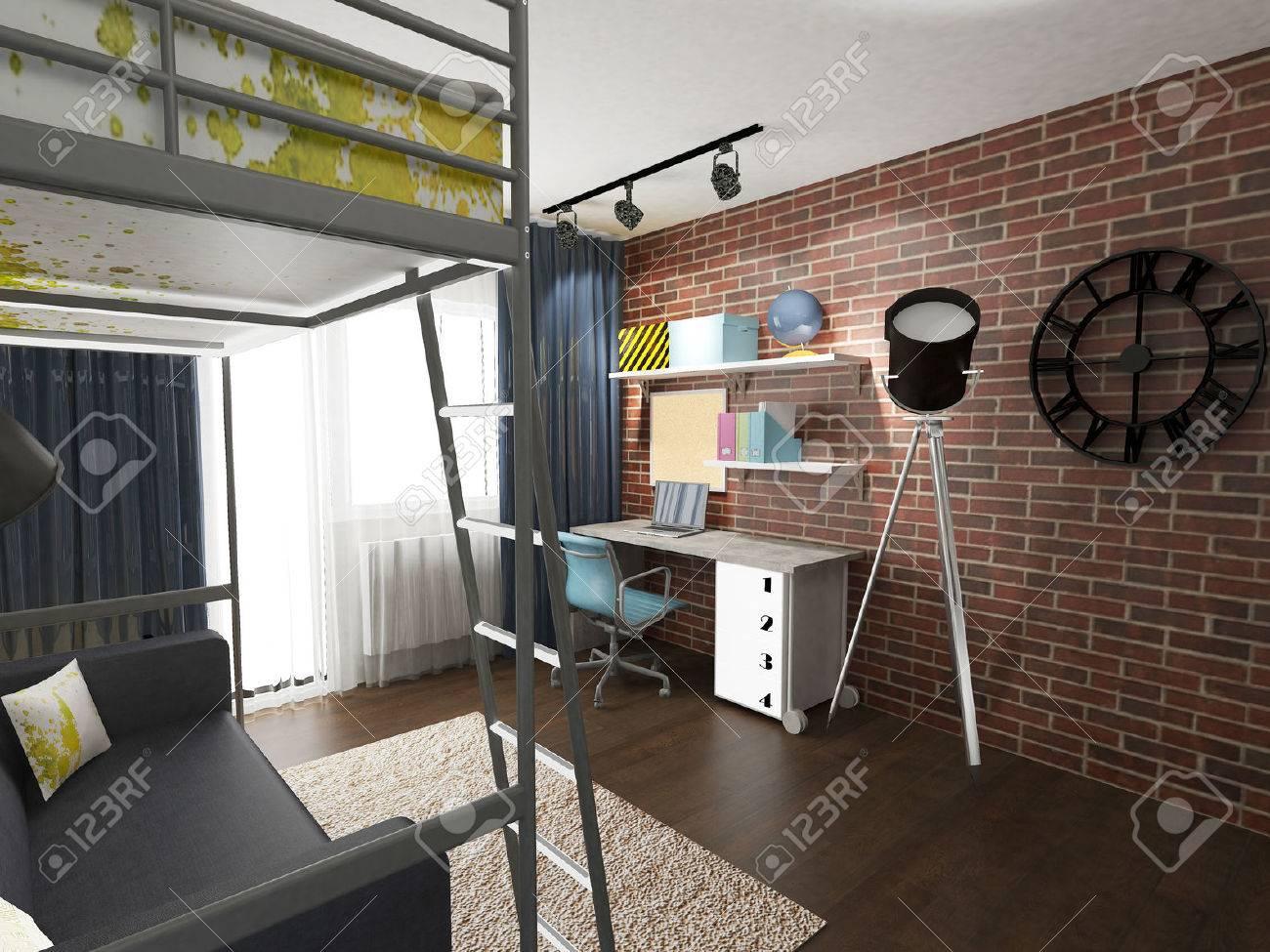 modern children room interior - 43403926