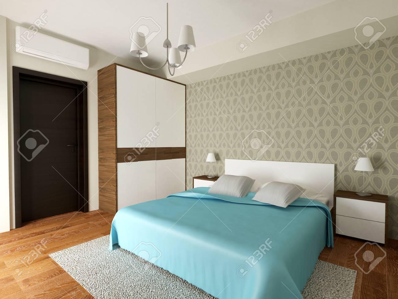 modern bedroom interior 3d render stock photo 45868278