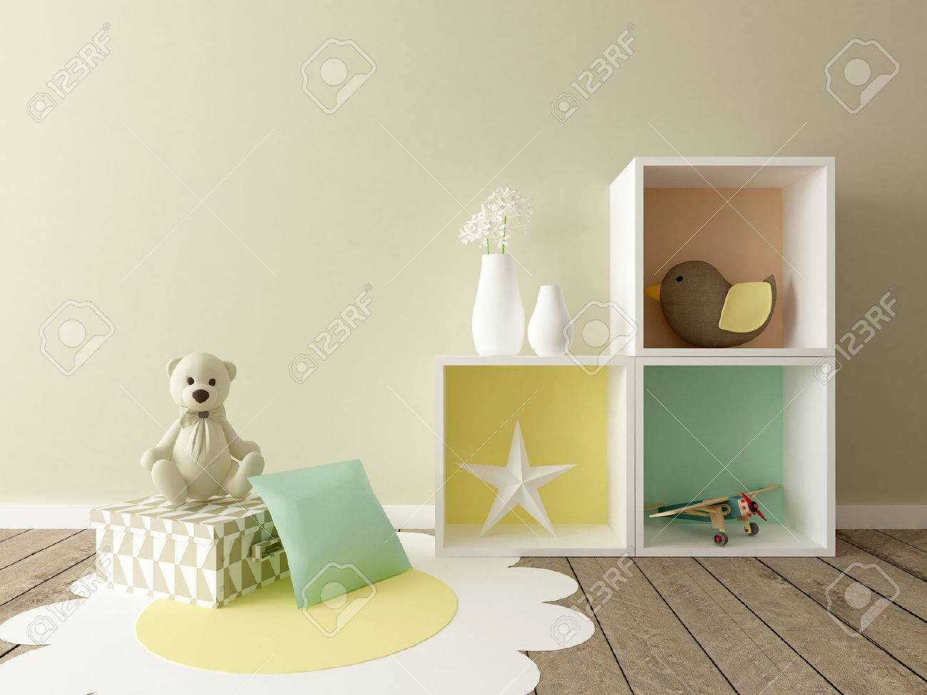 baby room, nursery interior - 51915994