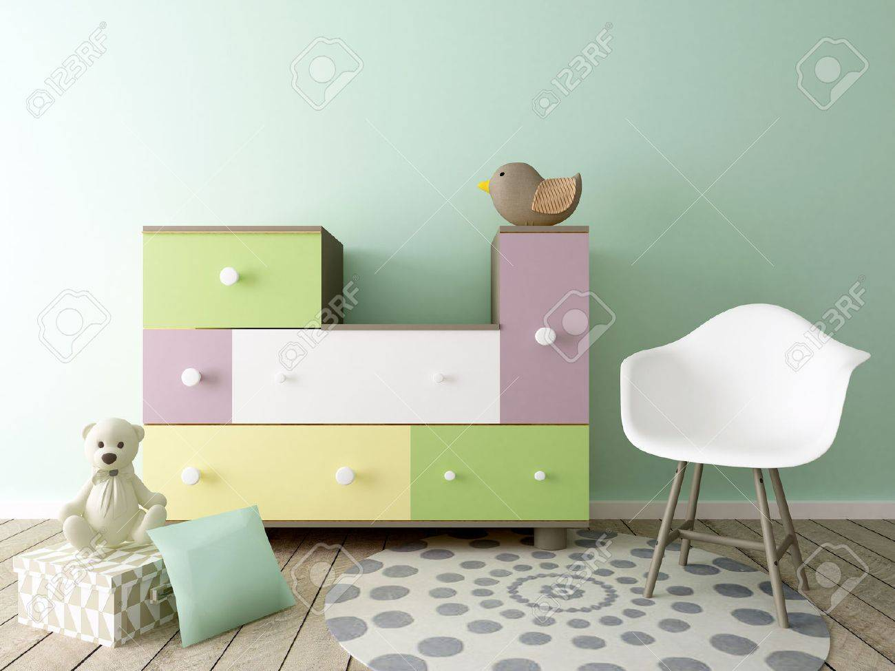 baby room, nursery interior - 51915995