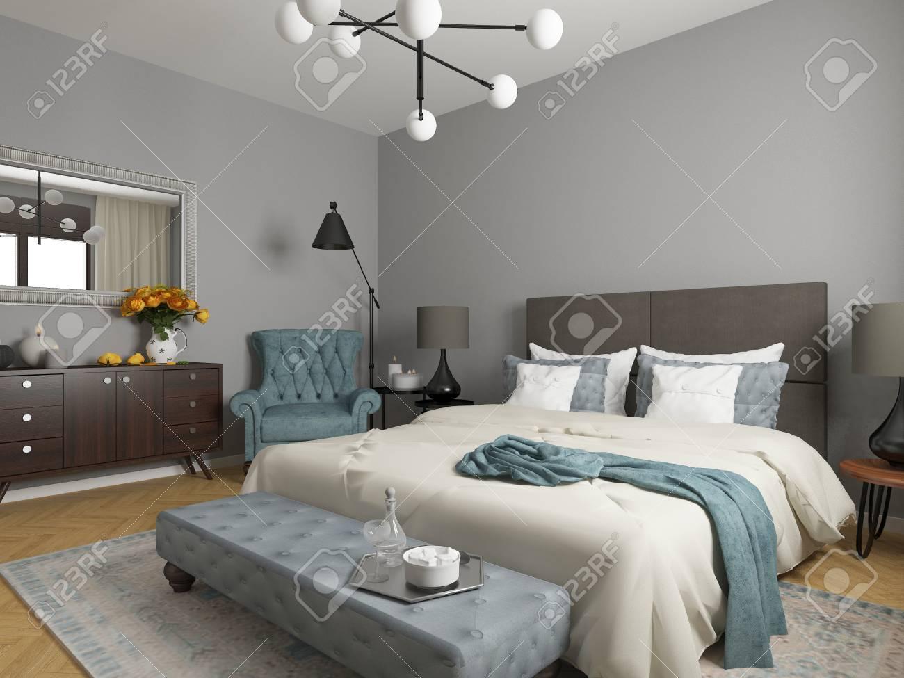 elegant bedroom interior - 66245164