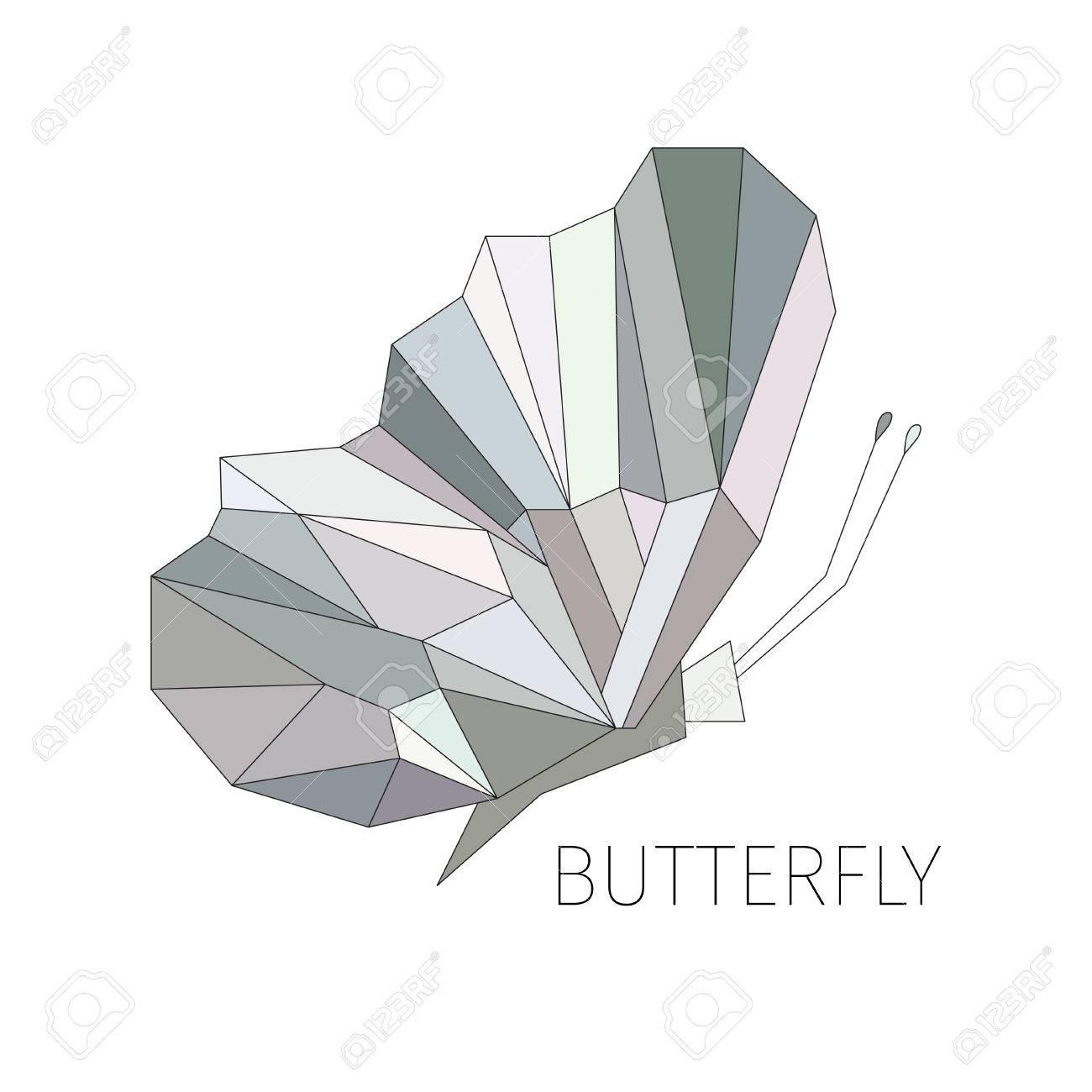 Schmetterling In Einem Profil. Das Schematische Bild Von ...