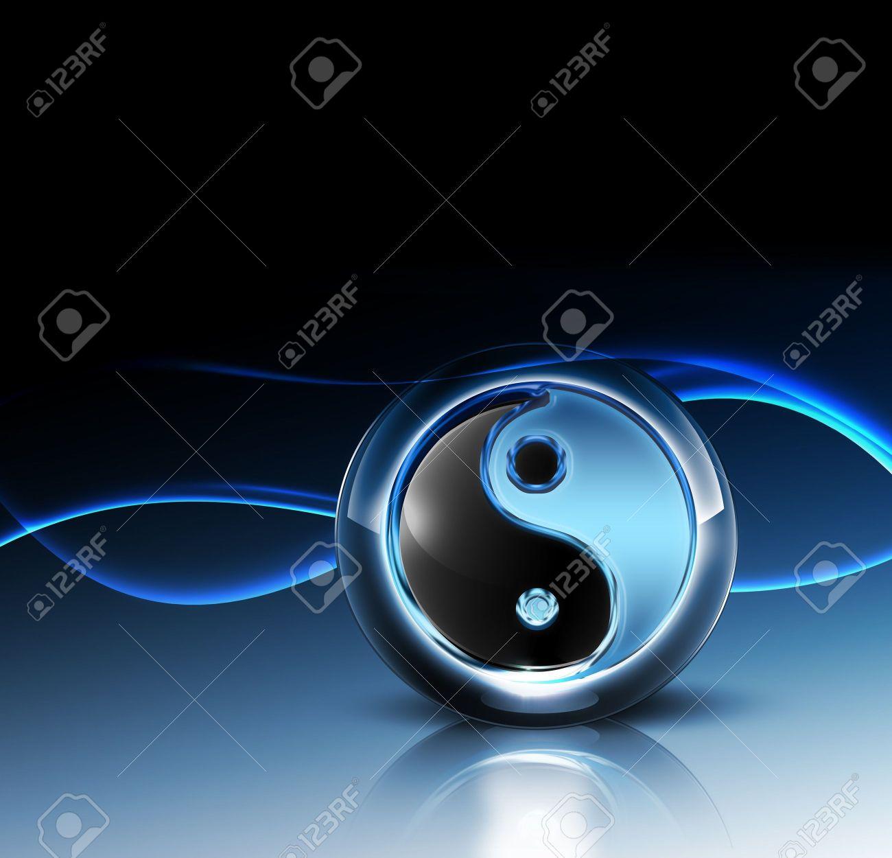 3d Yin Yang Symbol Fantastic Abstract Design Or Art Element