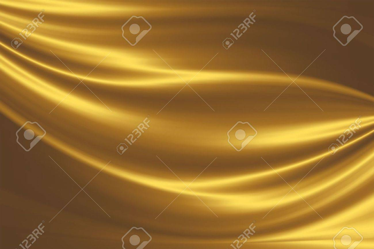 golden silk - elegant abstract background with smooth lines Stock Photo - 6419664