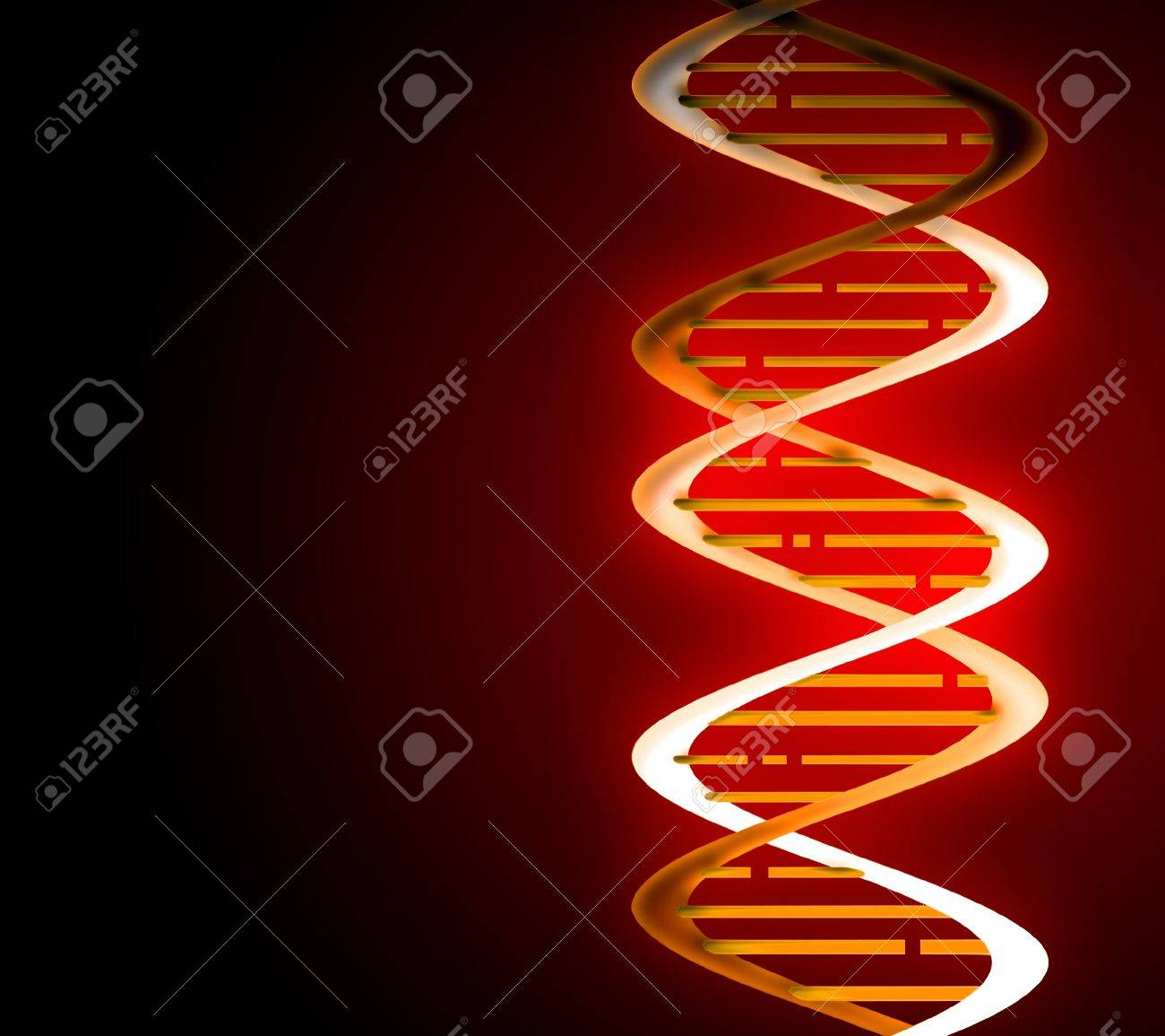 DNA strands on abstract medical background Stock Photo - 11142401
