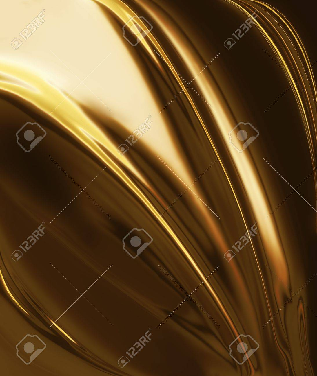 golden silk - elegant abstract background with smooth lines Stock Photo - 11588514