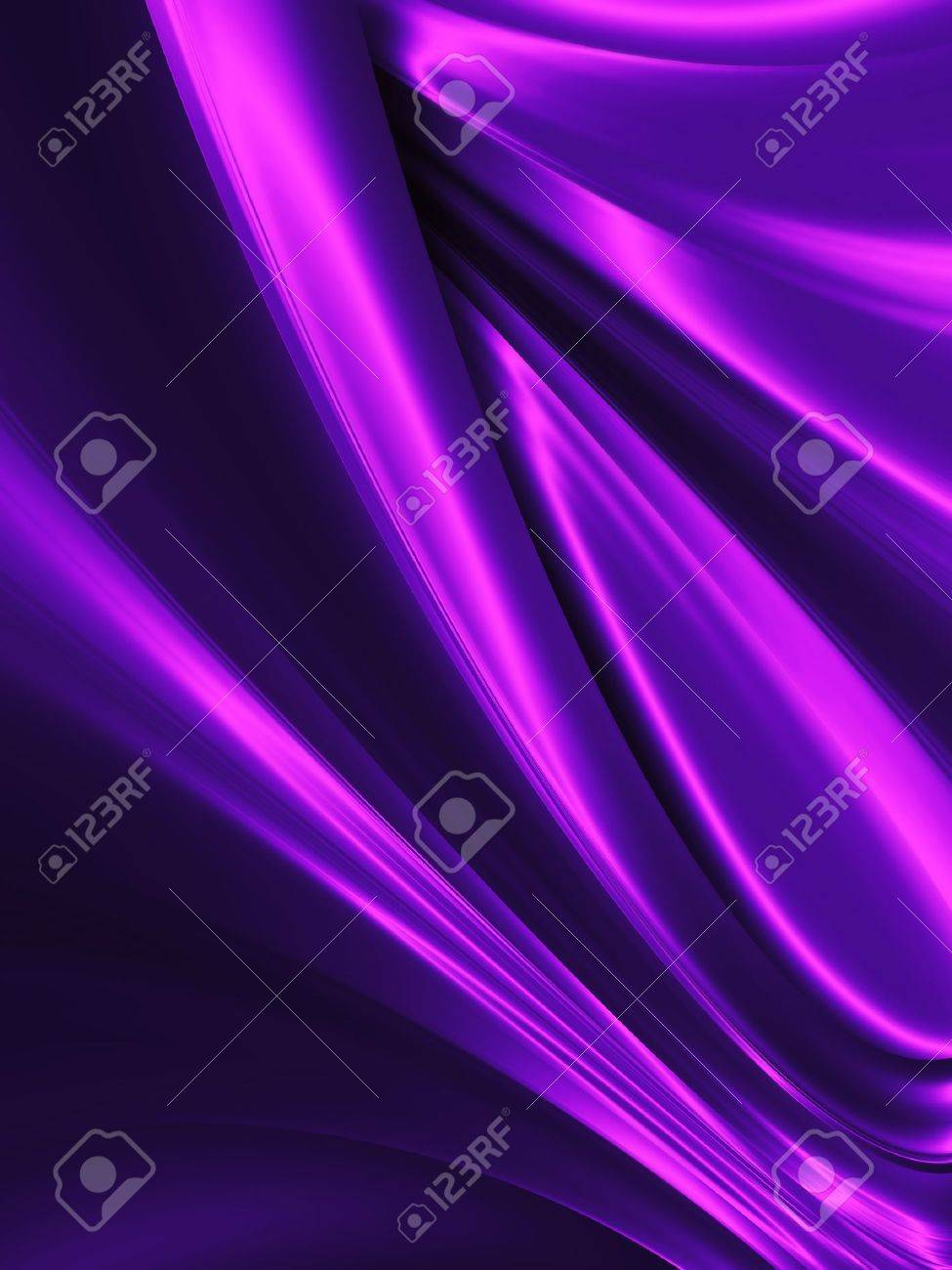 wave of purple silk close up - abstract background - 11976435