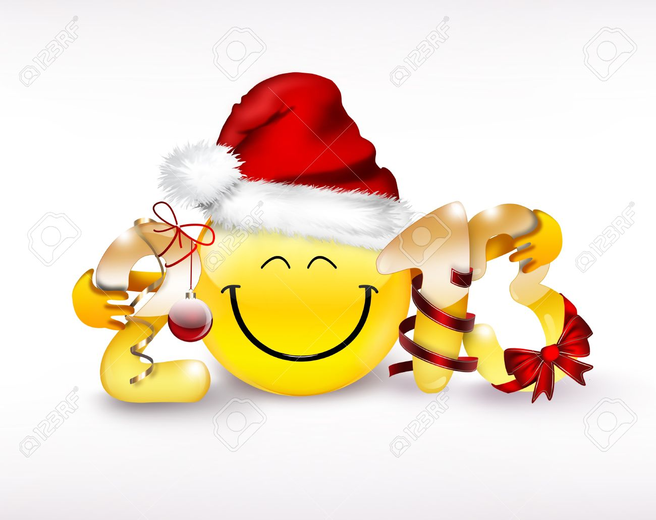 New Year Concept With Emoticon Stock Photo, Picture And Royalty ...
