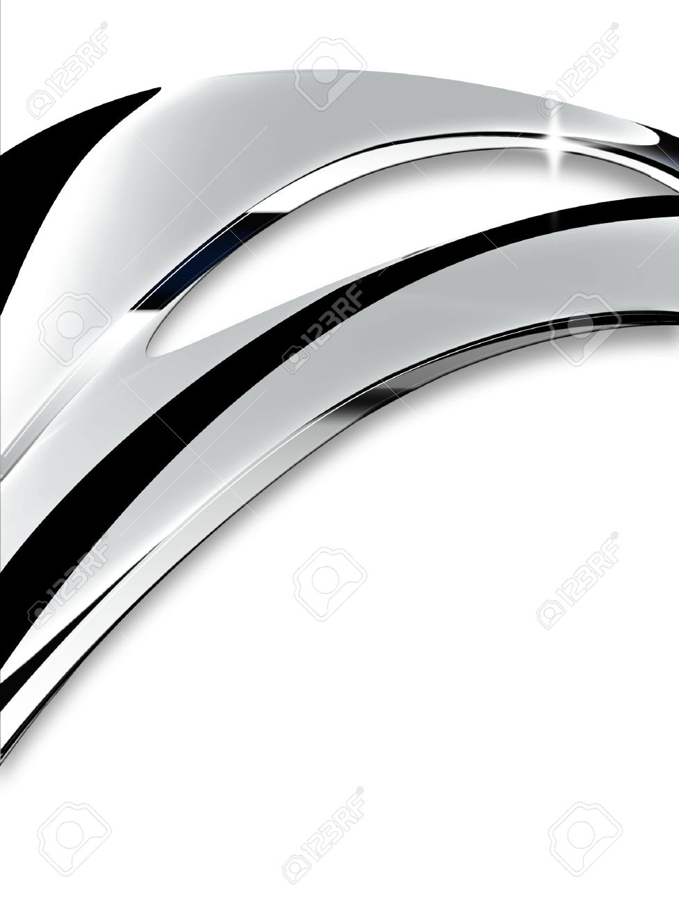 Wave of chrome on a white background Stock Photo - 16176685