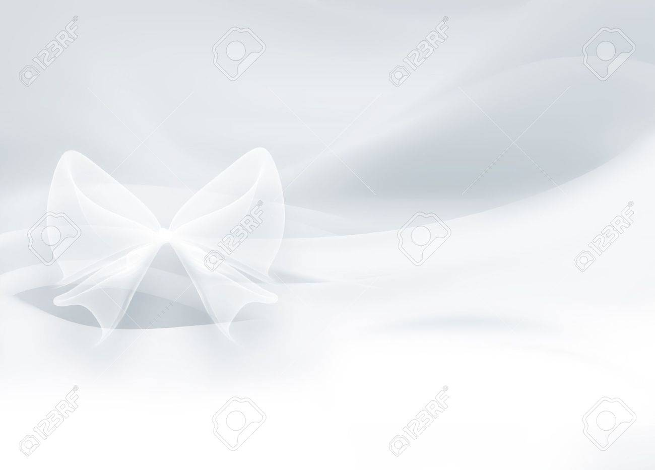 white satin with a bow as a background Stock Photo - 16521196
