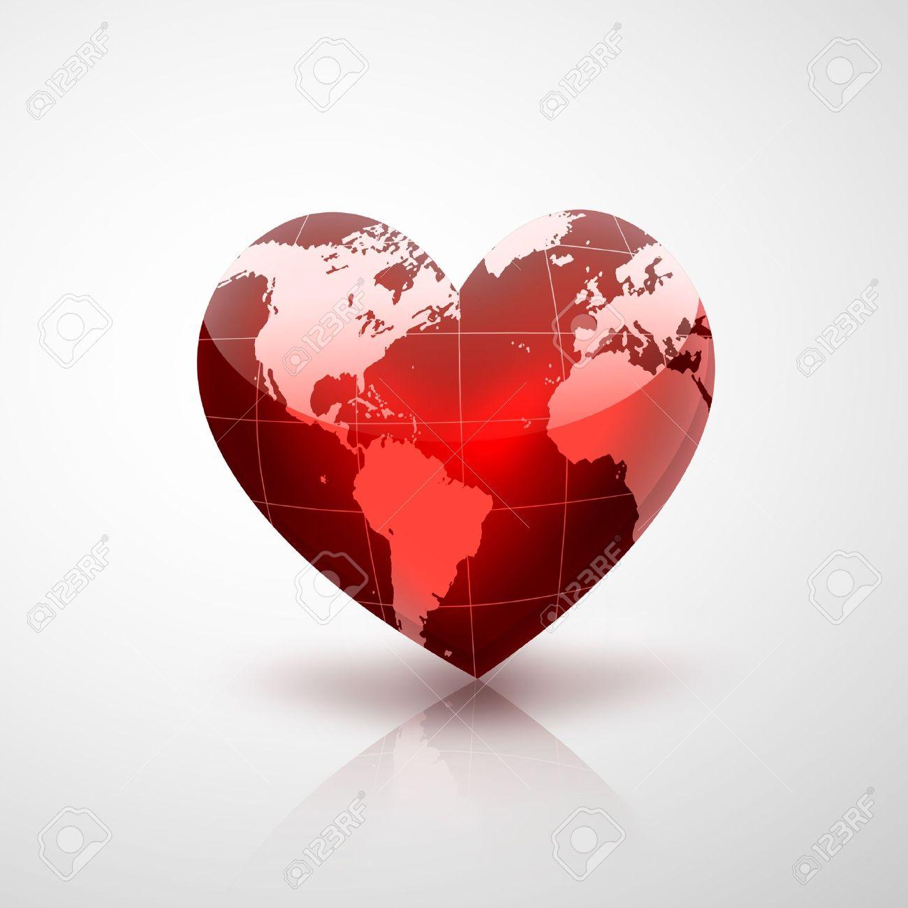 Resultado de imagen para planeta en forma de corazon rojo