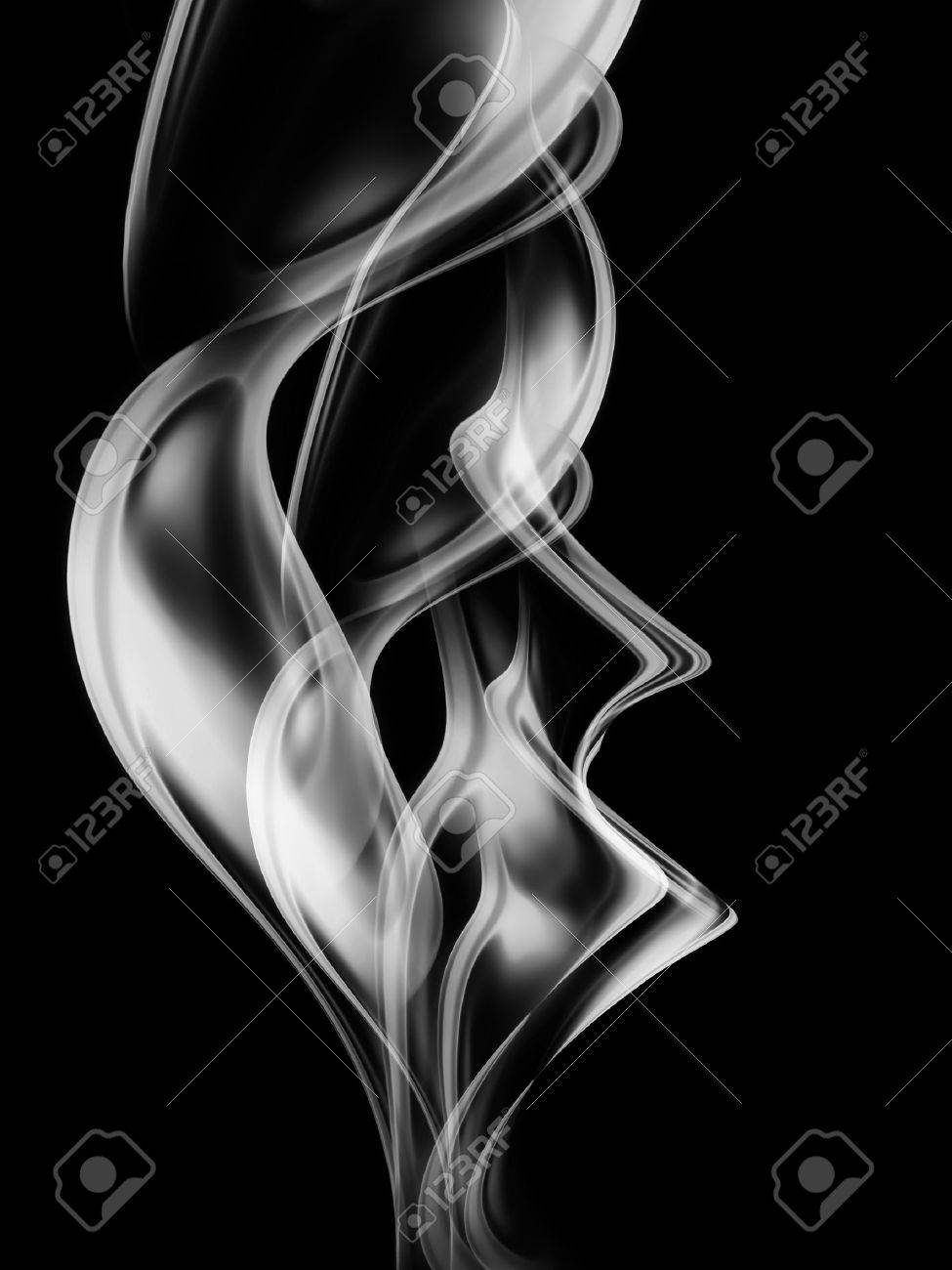 Monochrome background with abstract smoke Stock Photo - 22497626