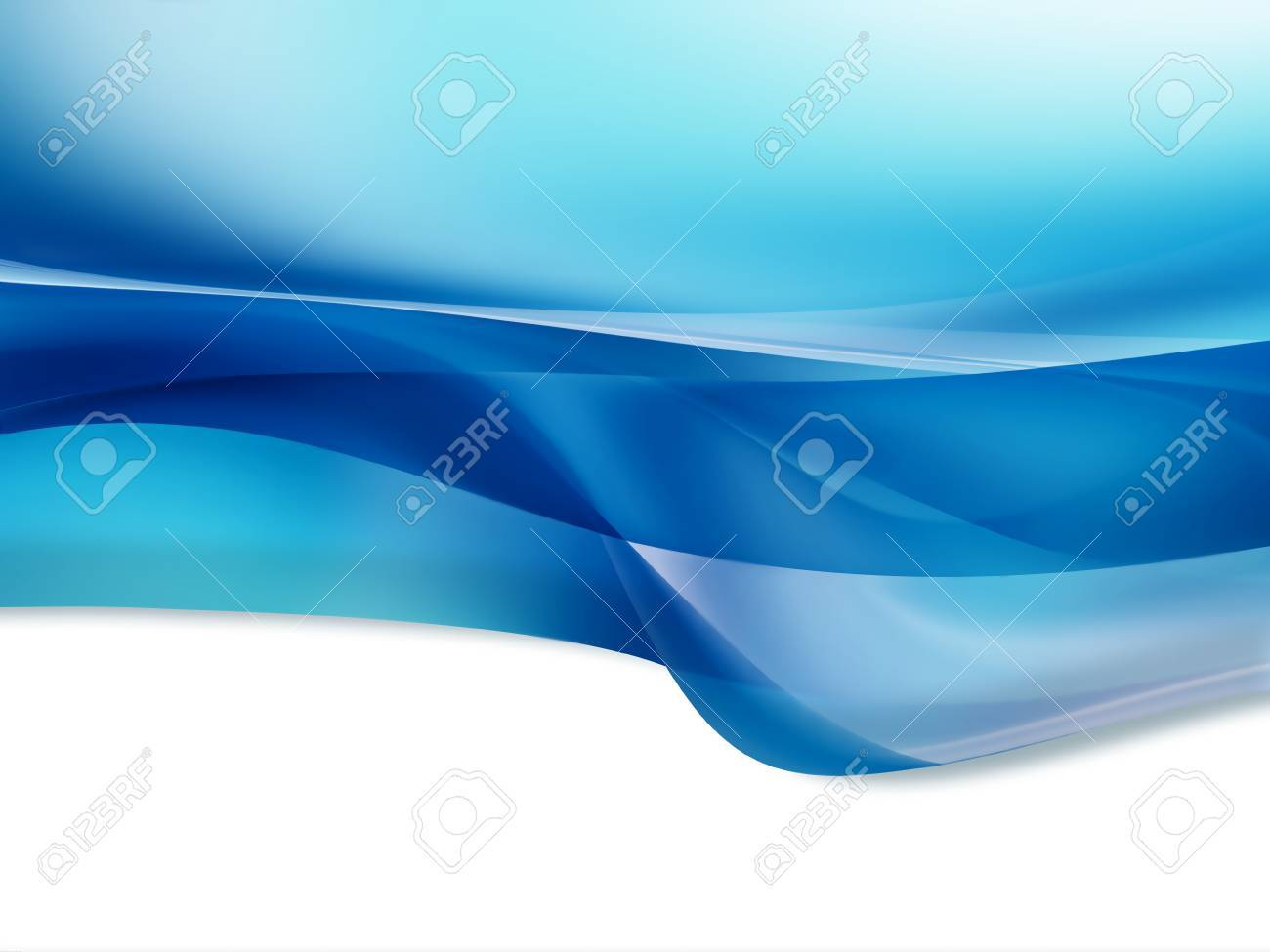 Blue wave on a white background Stock Photo - 22497629