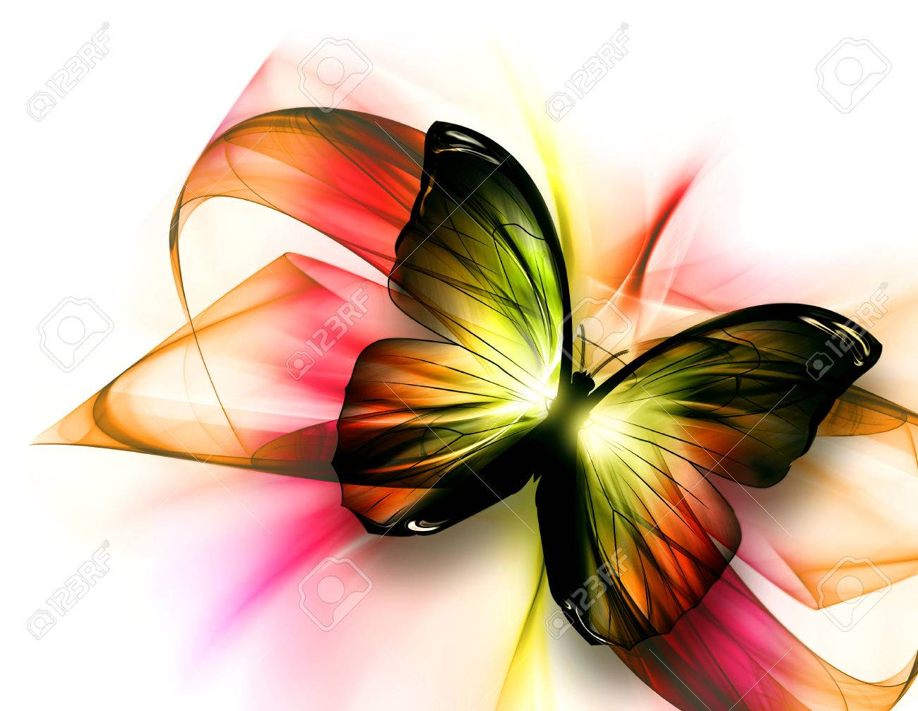 31bde7b76315f9 elegant beautiful butterfly on a light background Stock Photo - 31481550