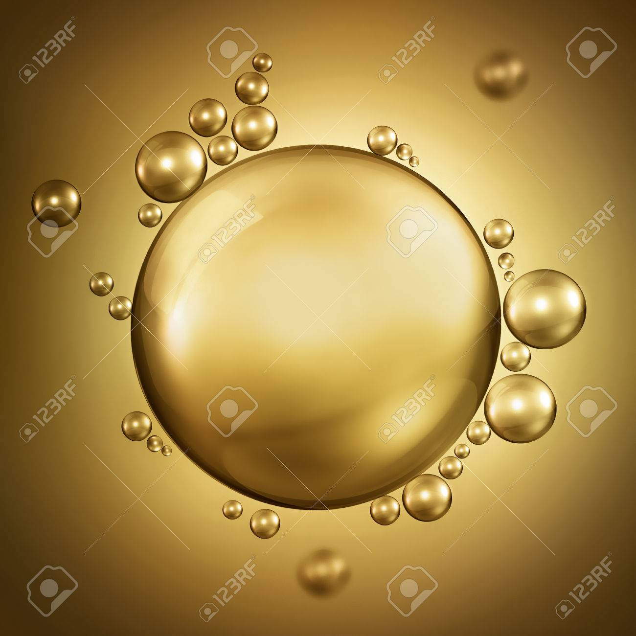 abstract design with air bubbles in oil - 46122929