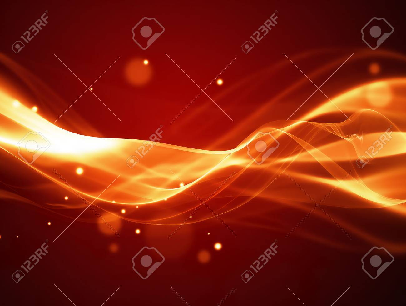 abstract fire background with smooth soft lines - 48541438