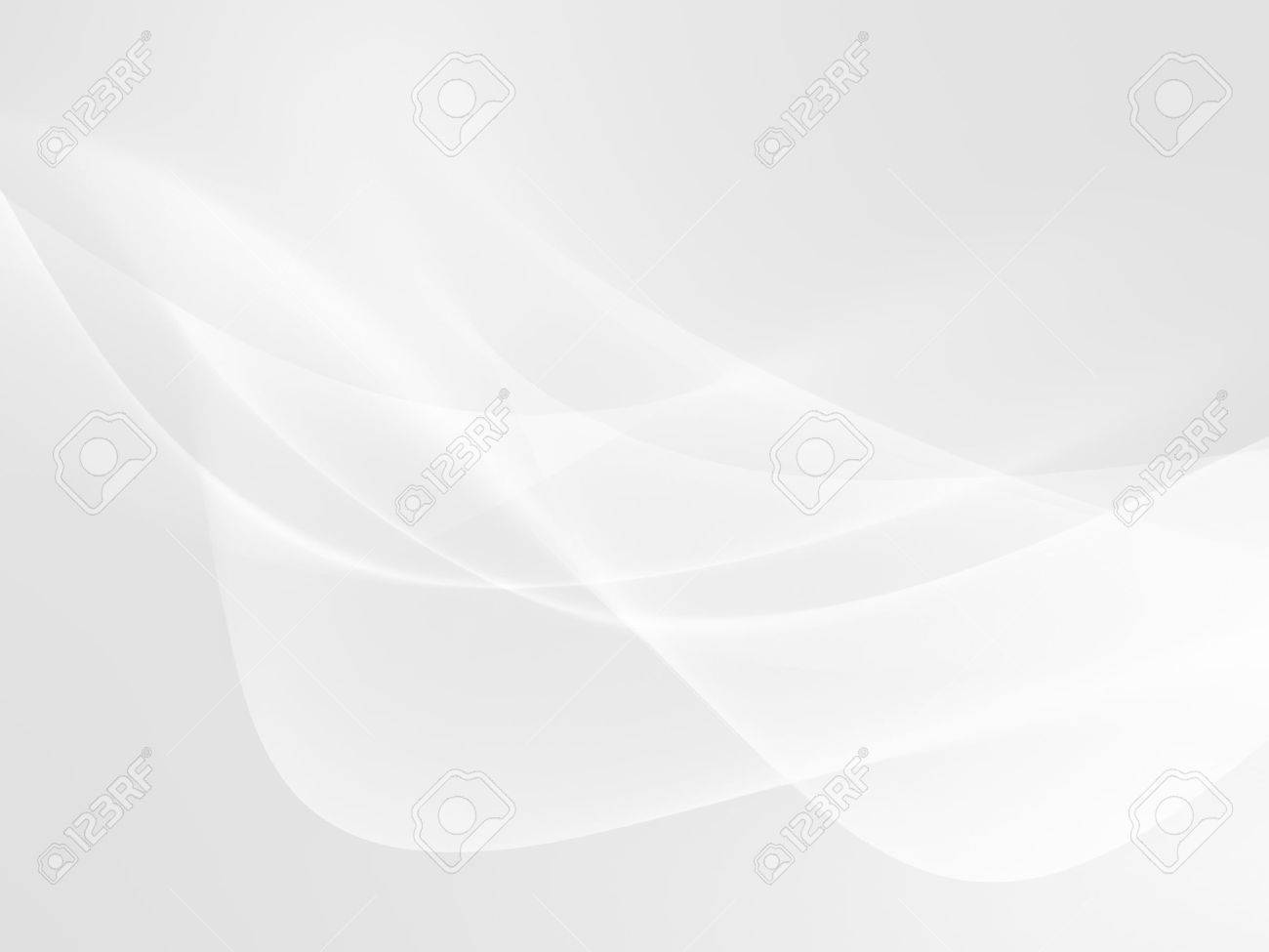 abstract white background with smooth wavy lines - 52584236