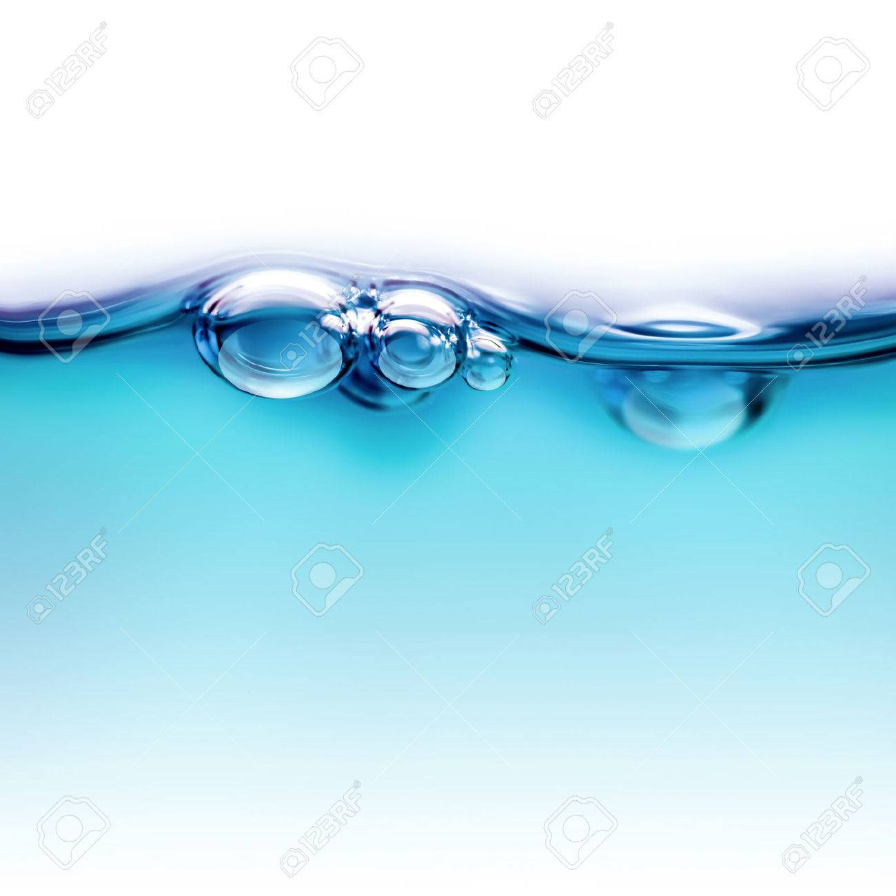 water line with air bubbles close up - 52584597
