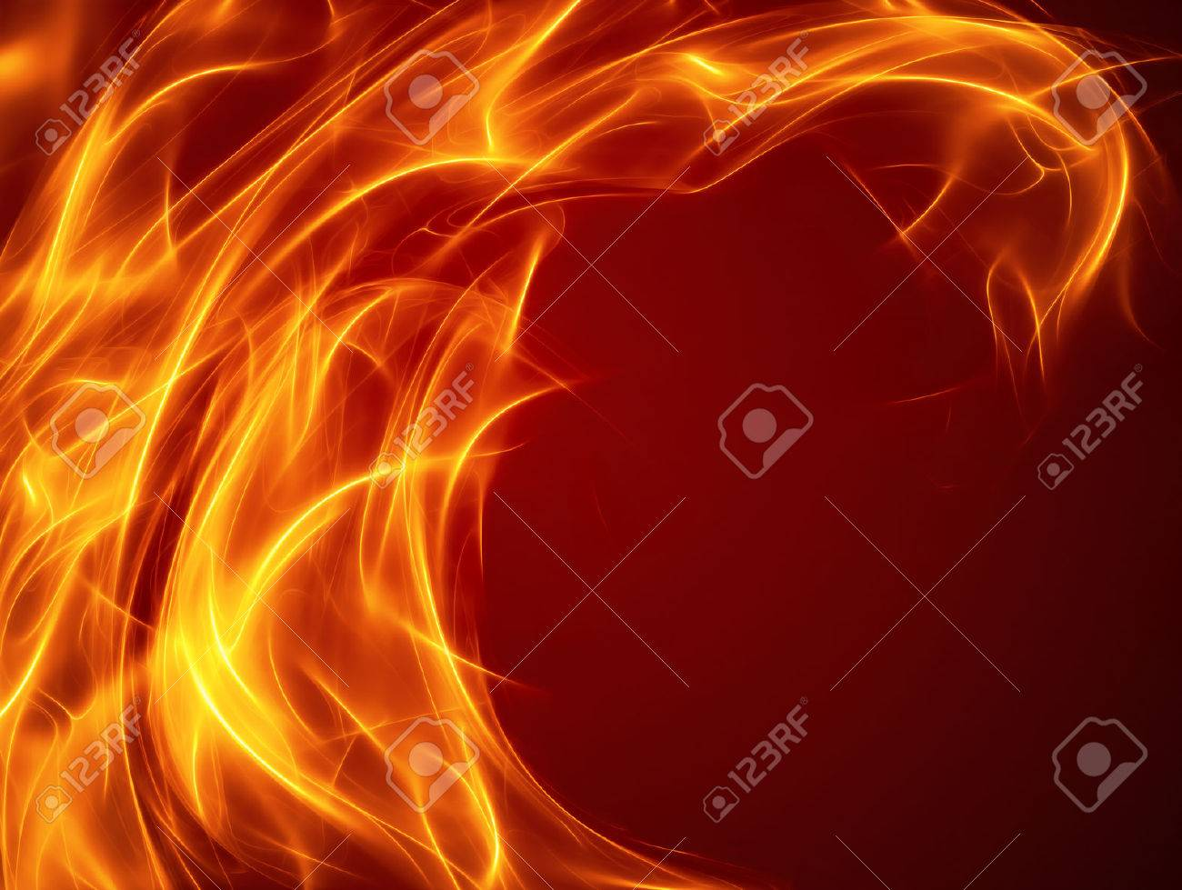 abstract fire background with smooth soft lines - 52584598