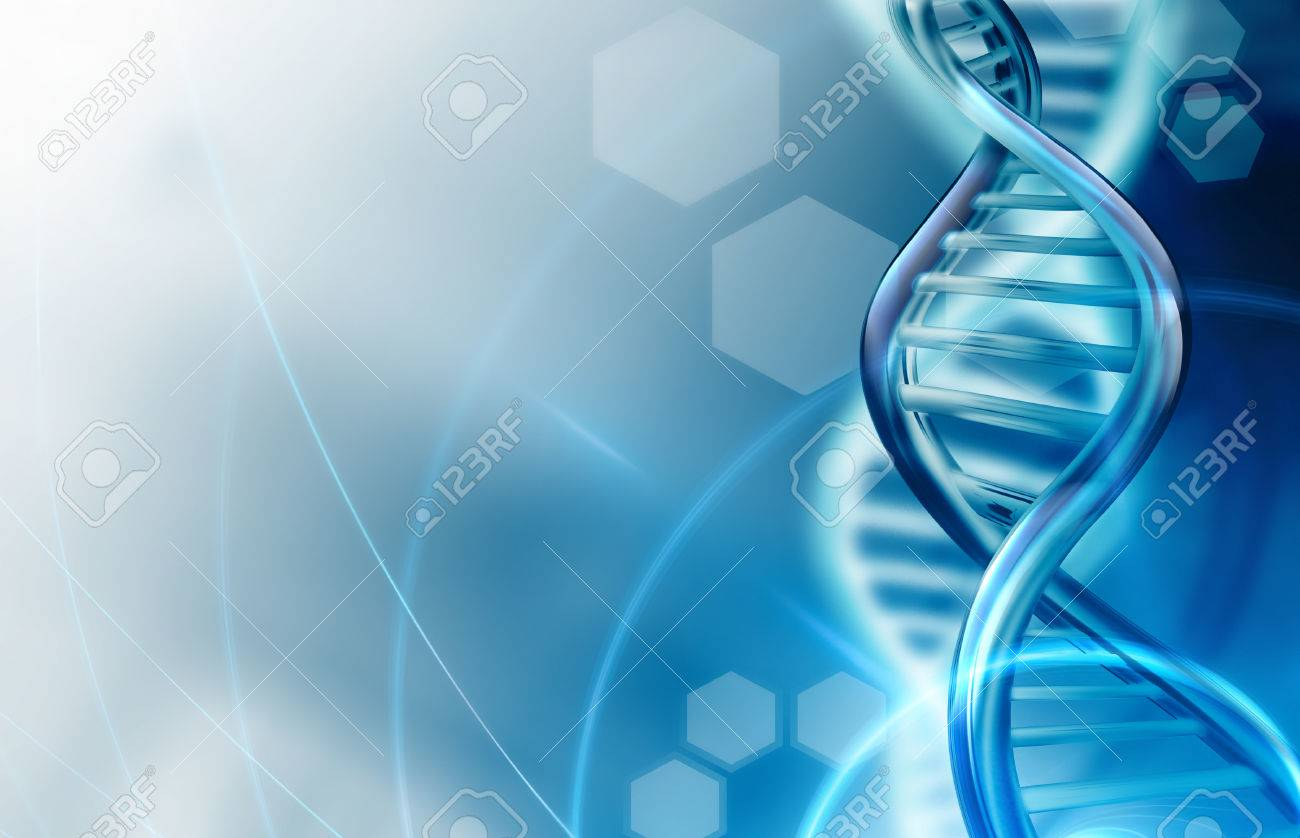 Abstract science background with DNA strands - 54795565