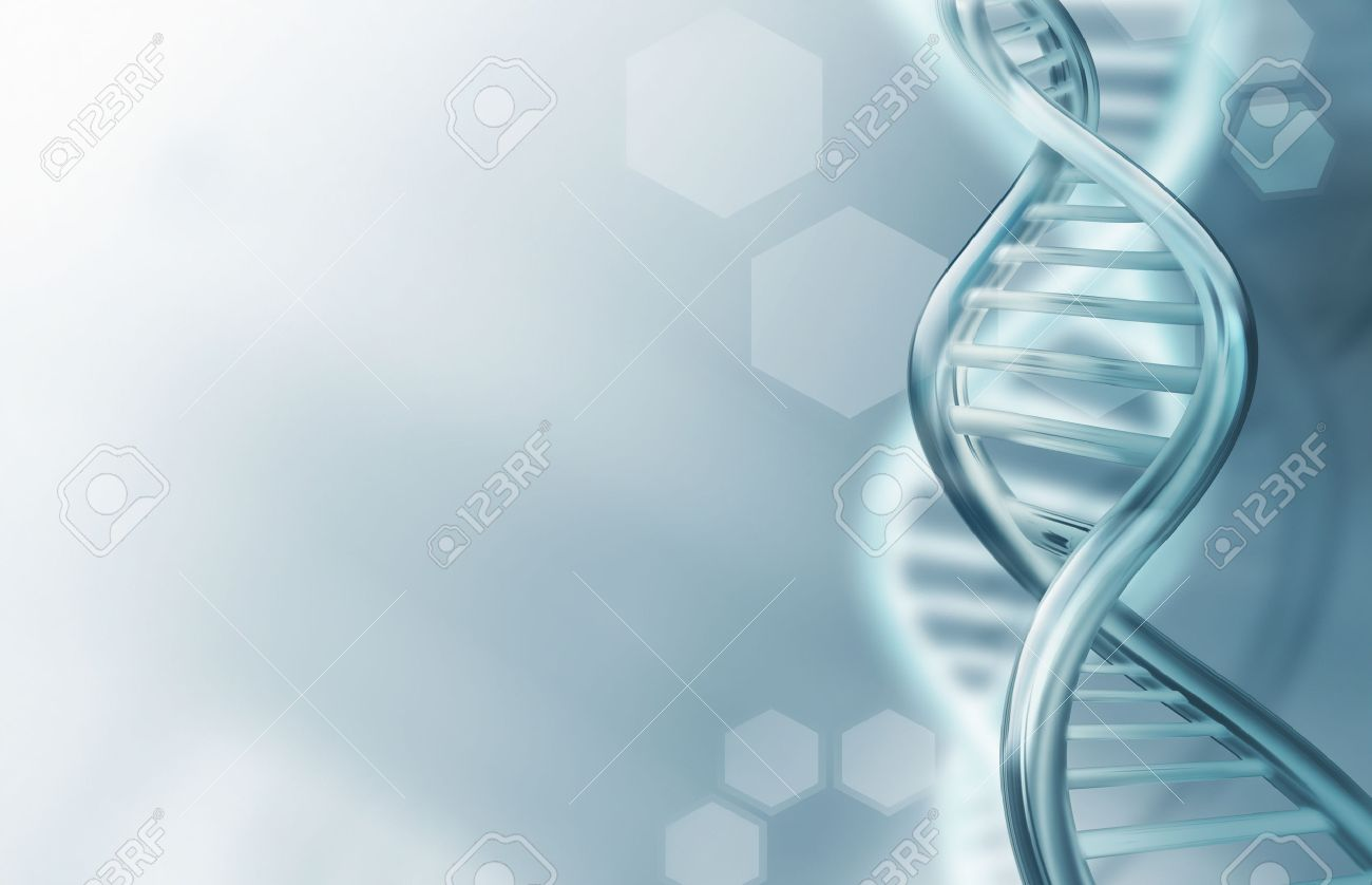 Abstract science background with DNA strands - 54795567