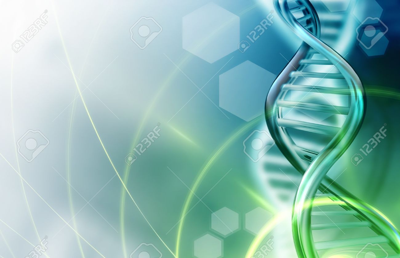 Abstract science background with DNA strands - 54795583
