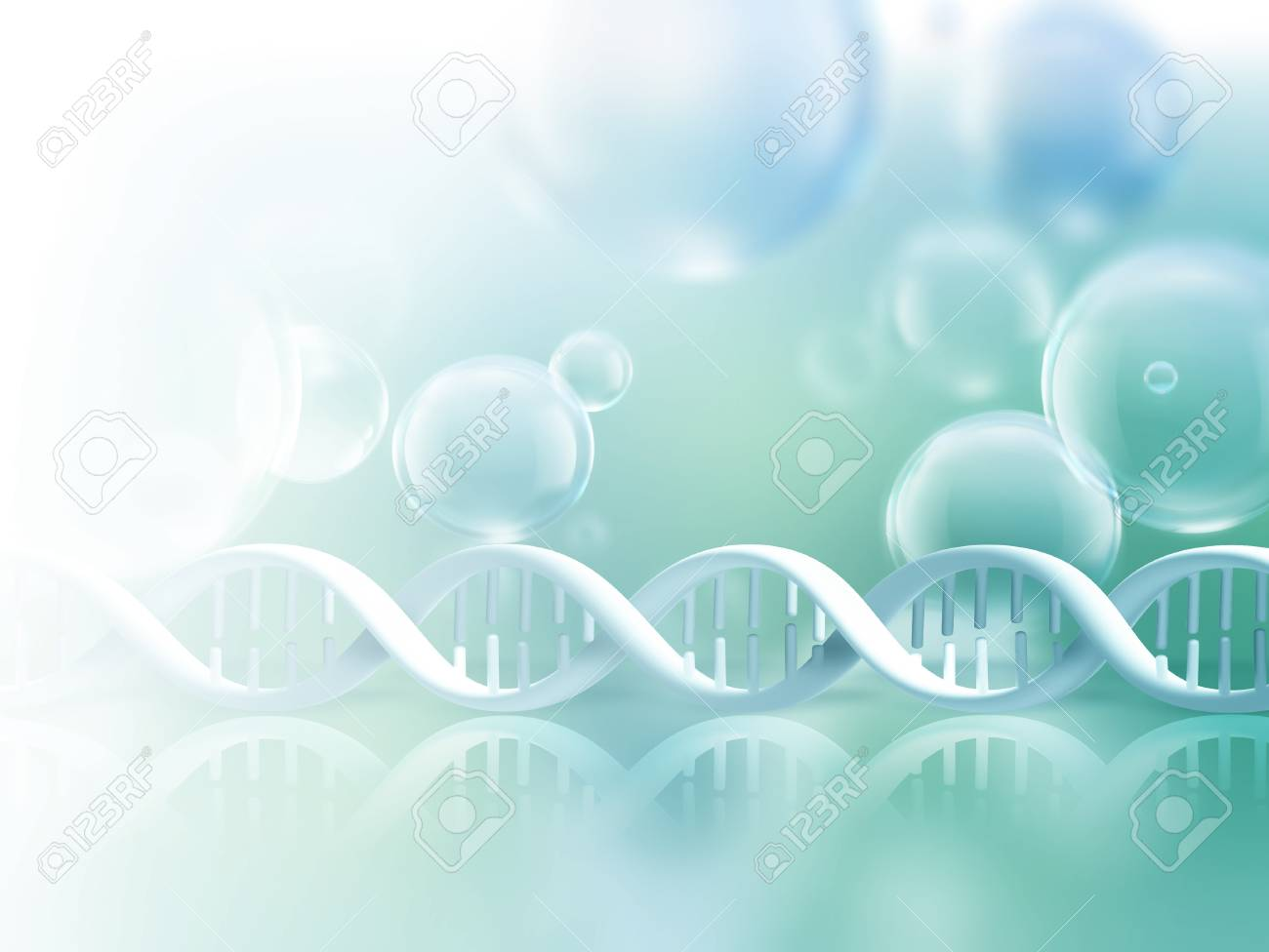 Abstract science background with DNA strands - 58116629