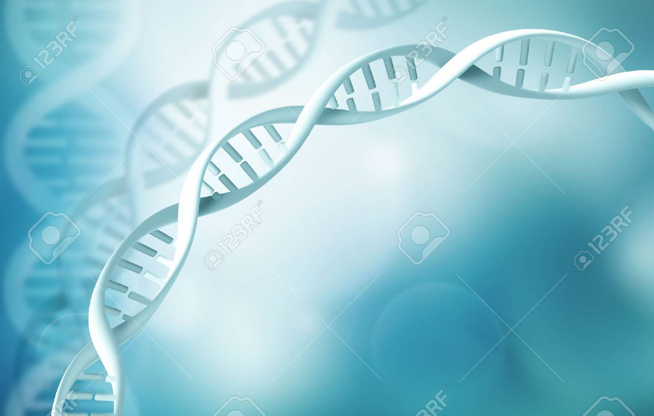 Abstract science background with DNA strands - 58117984