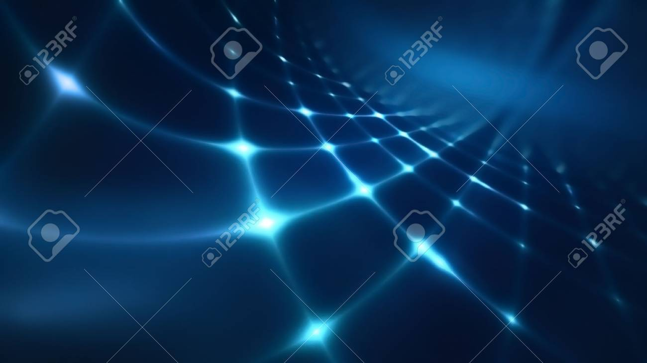 Abstract technology background with blue shining light - 58131957