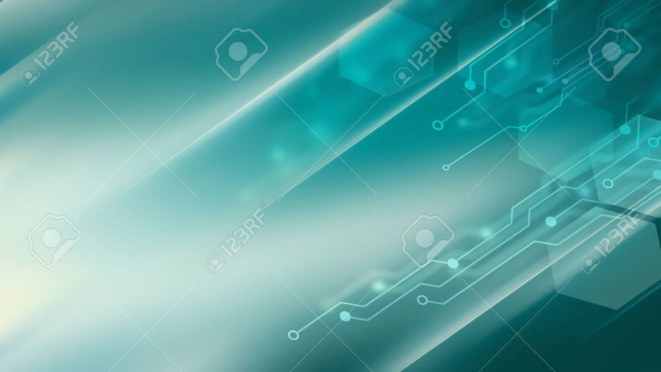 Abstract high tech background in blue tones - 73645738