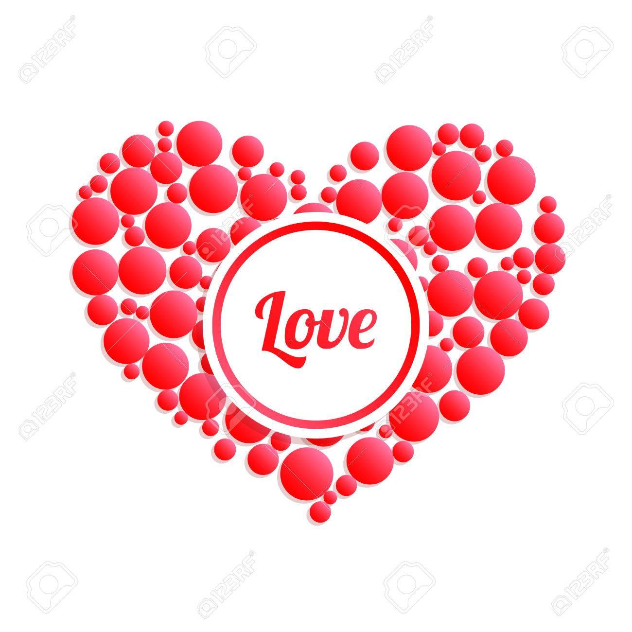 Resumen Del Corazón. Declaración De Amor. Ilustraciones Vectoriales ...