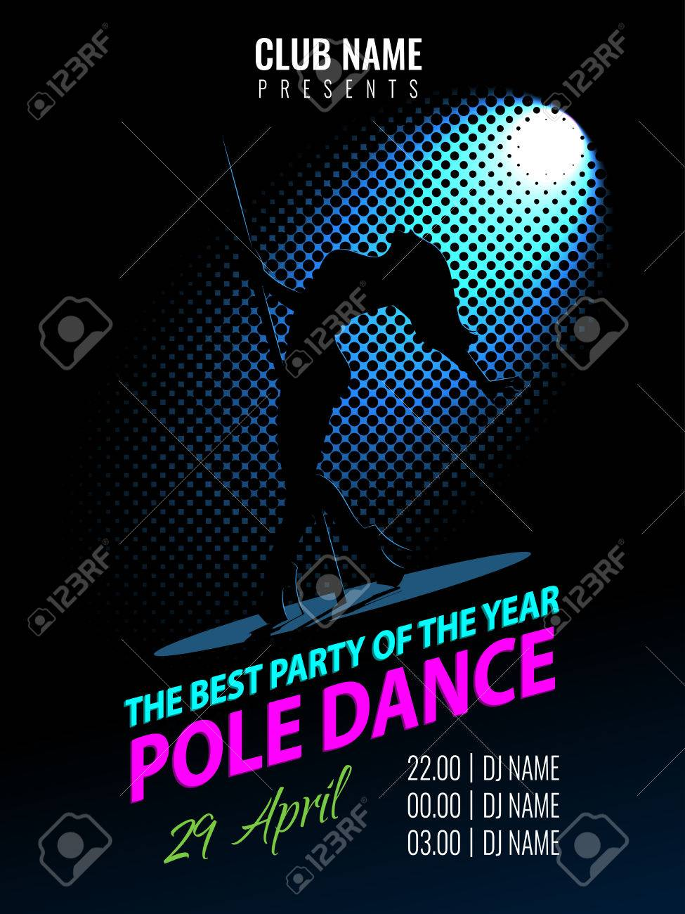 party poster template night dance party flyer stock vector 73679460