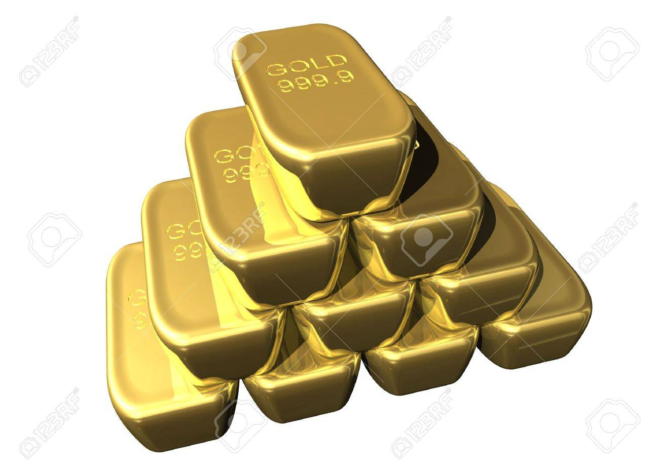 Staple of gold bars Stock Photo - 716258