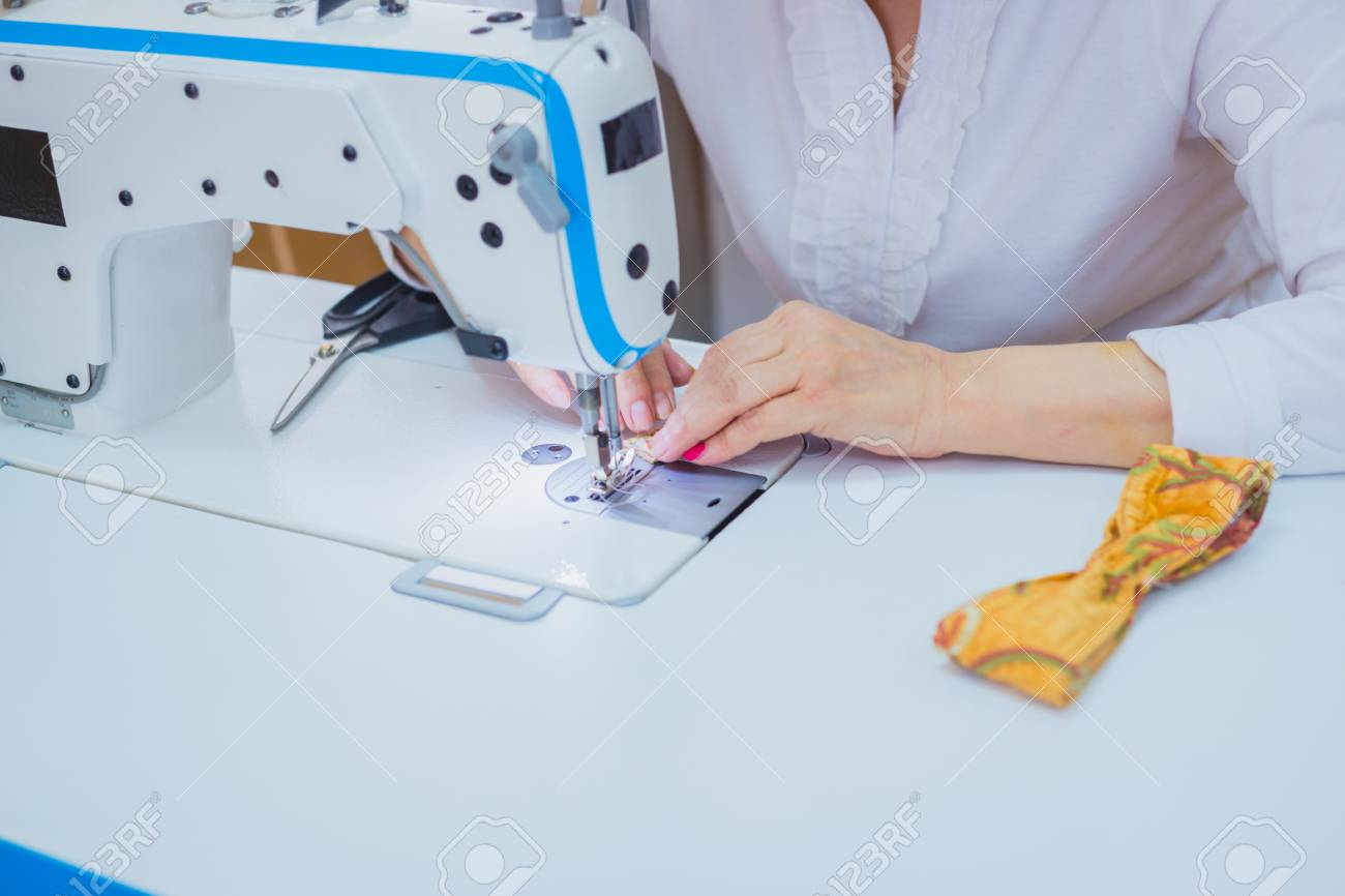 Professional Tailor Fashion Designer Sewing Clothes With Sewing Stock Photo Picture And Royalty Free Image Image 104914681