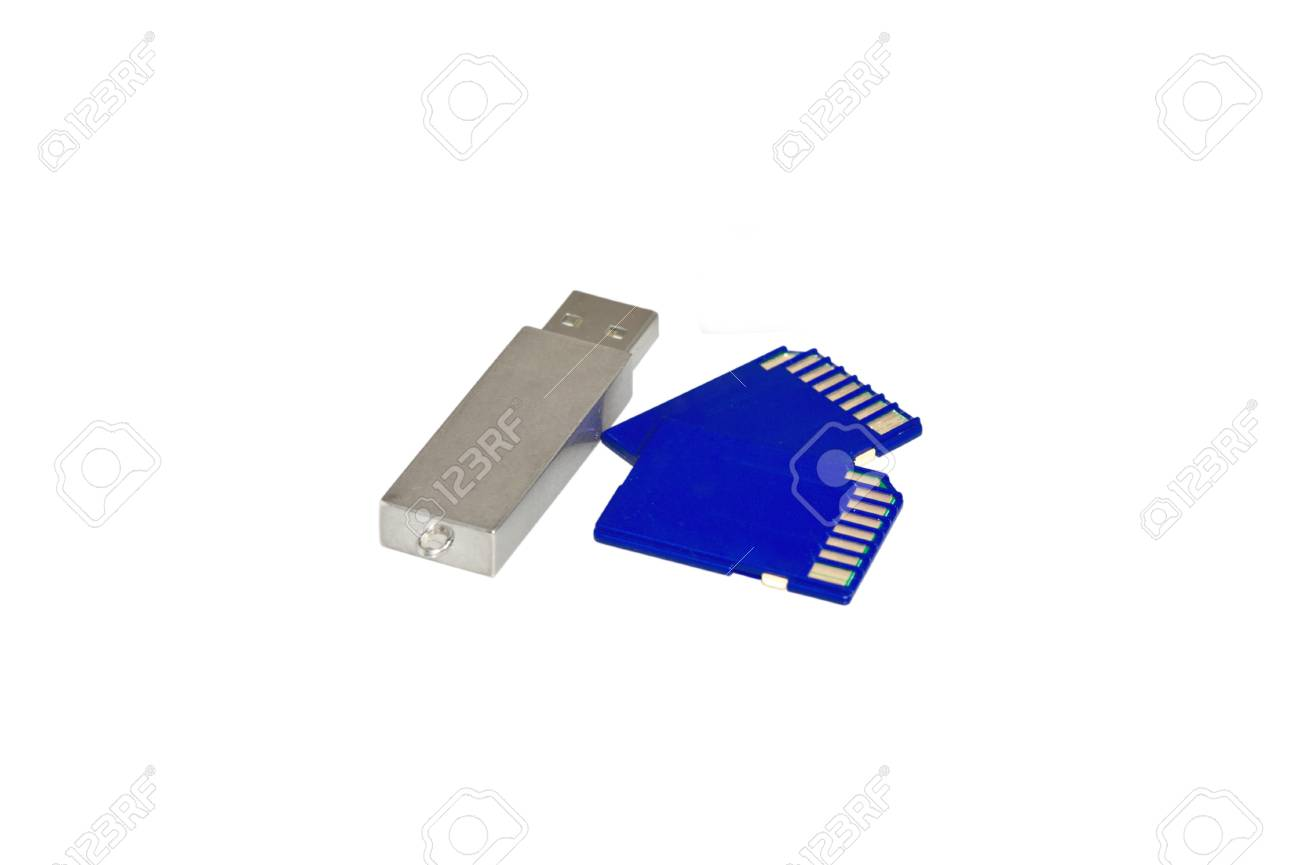 usb devices for storing information on a white background Stock Photo - 13954776