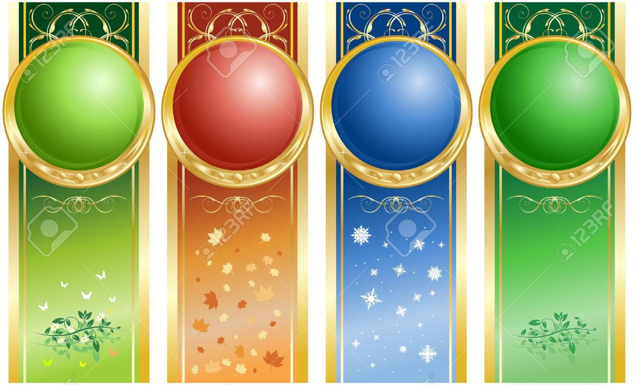 Four seasons Stock Vector - 4511762