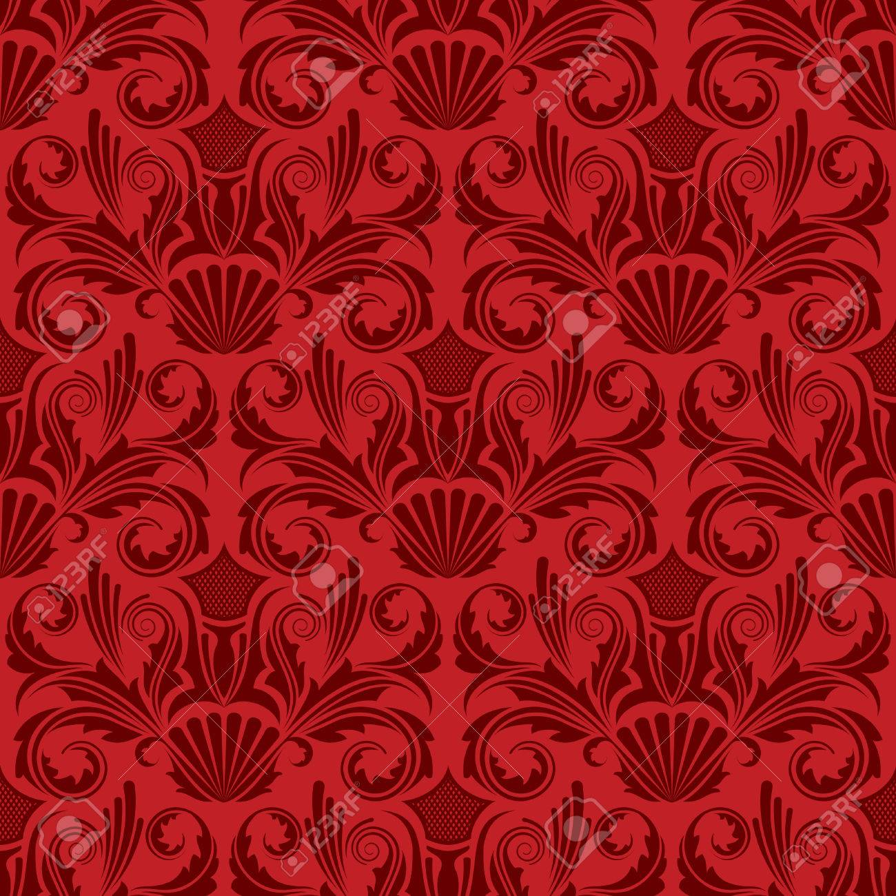 Red seamless wallpaper Stock Vector - 4722693
