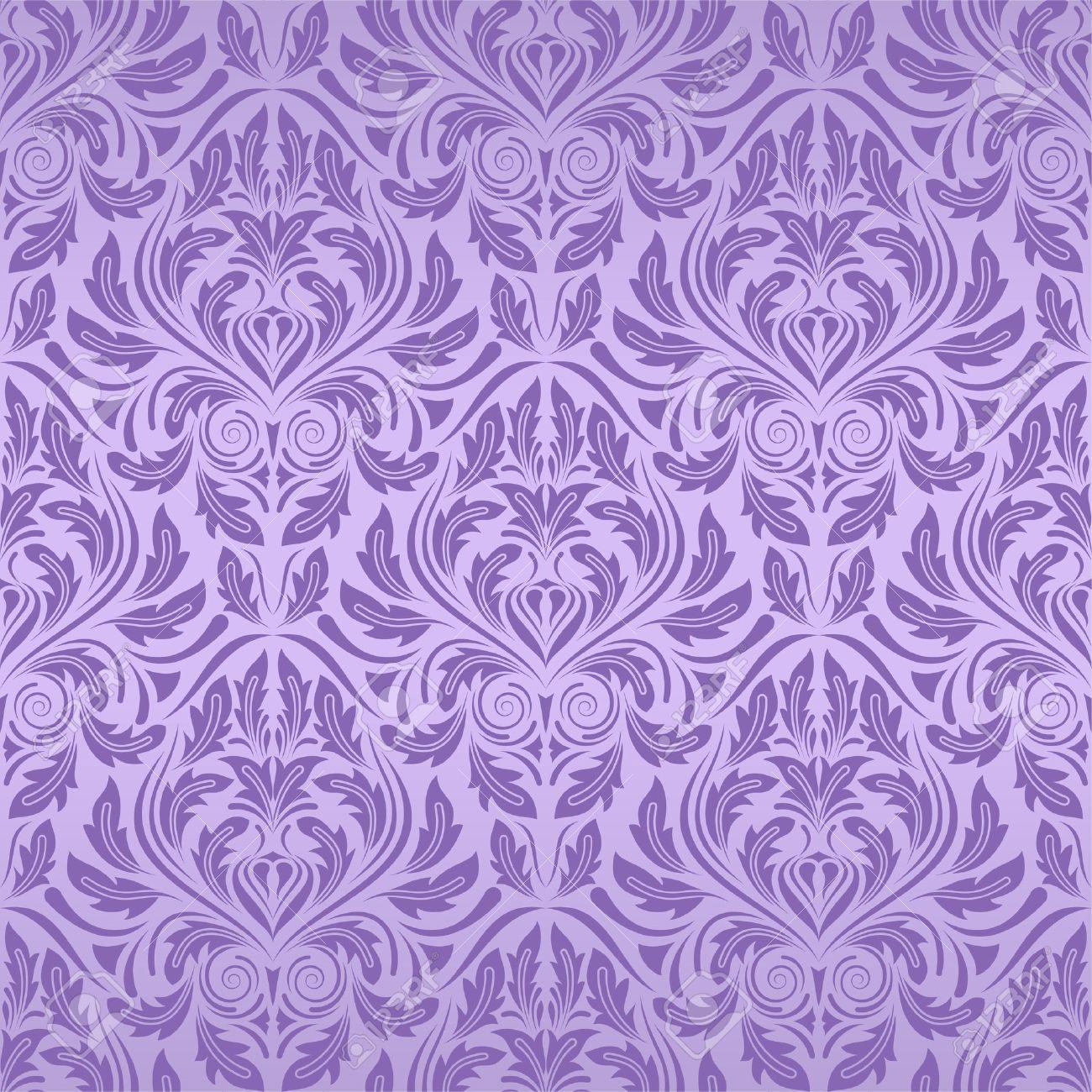 Violet Seamless Wallpa...