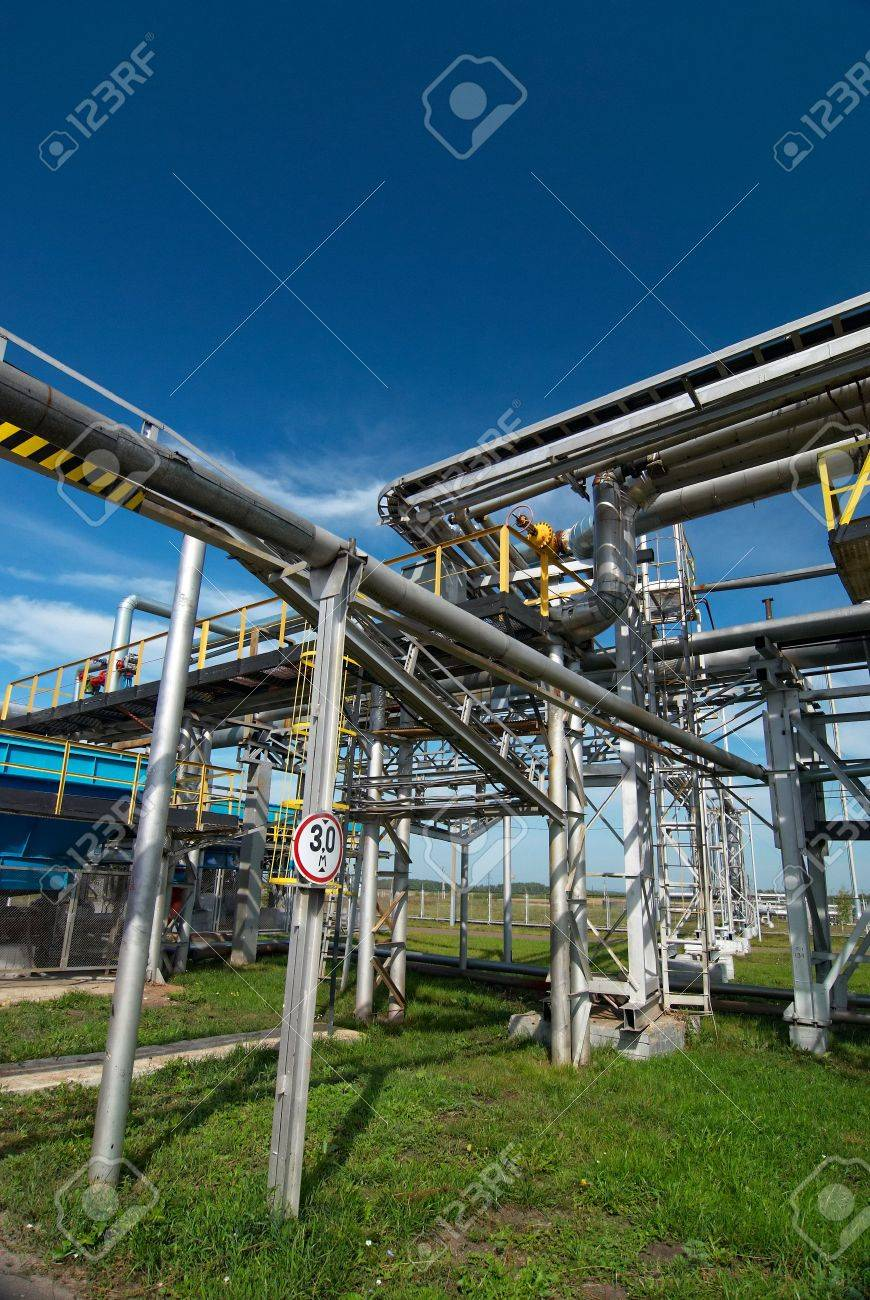 Gas industry. sulfur-refinement Stock Photo - 6246531