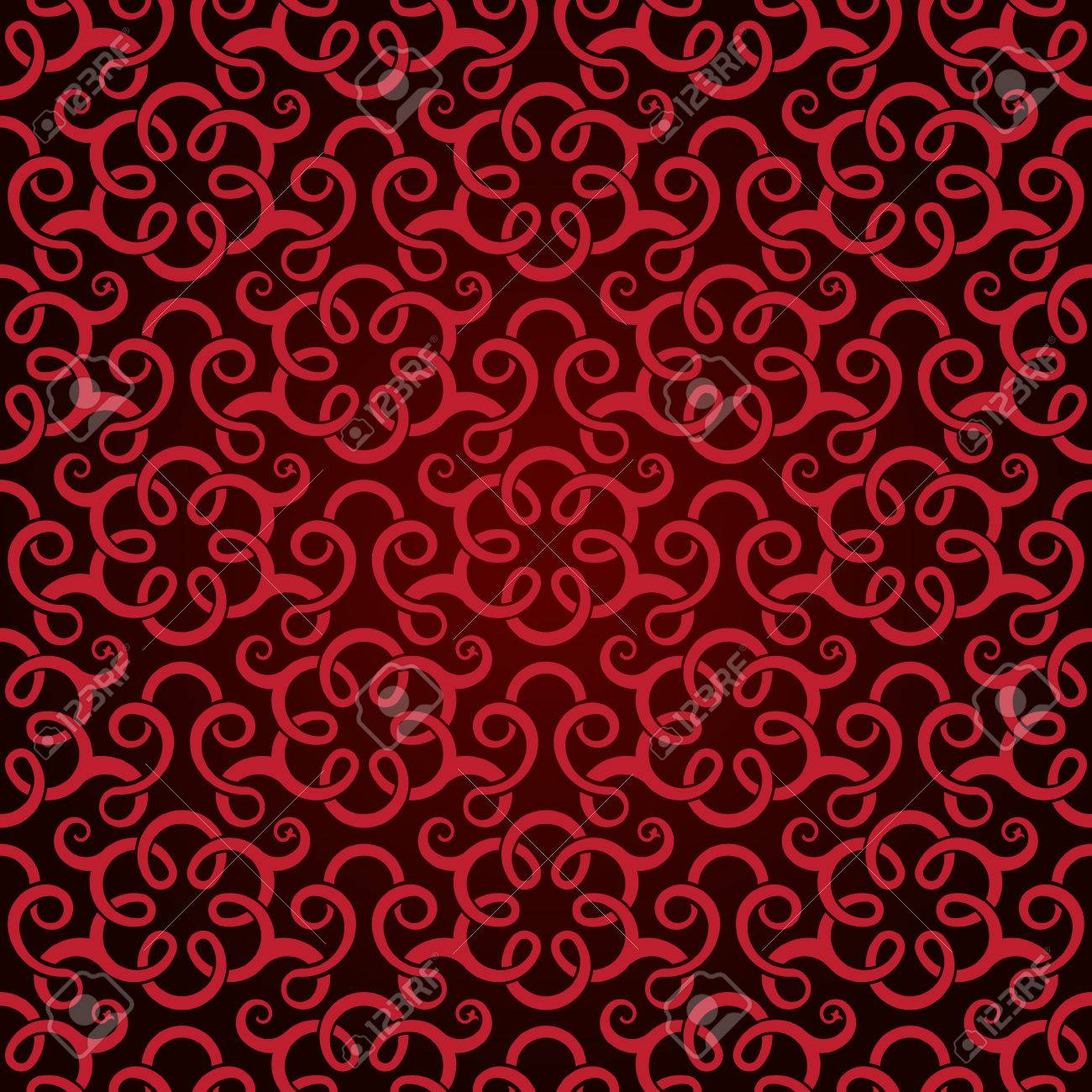 Red seamless wallpaper pattern Stock Vector - 8143968