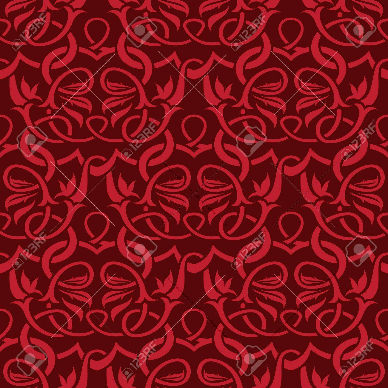 red seamless wallpaper pattern Stock Vector - 9720282