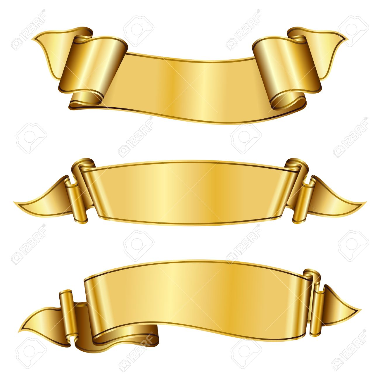 Gold Png Vector Vector Gold Ribbon1300 x 1300