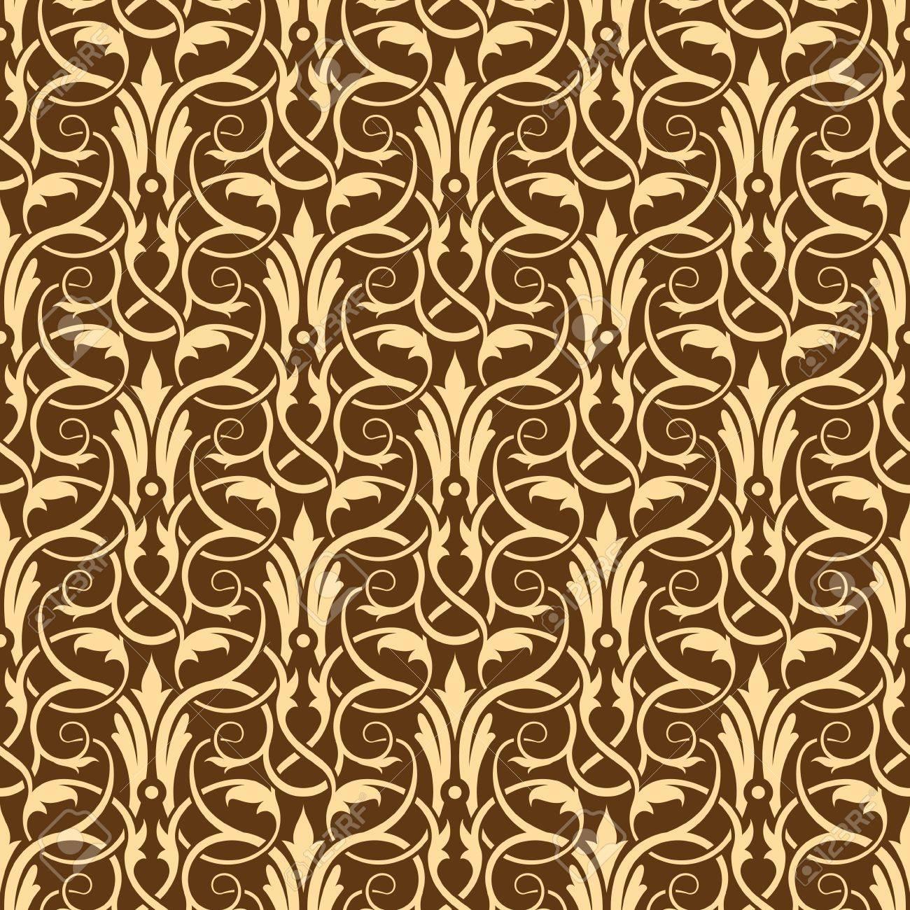 brown seamless wallpaper pattern Stock Vector - 10360016