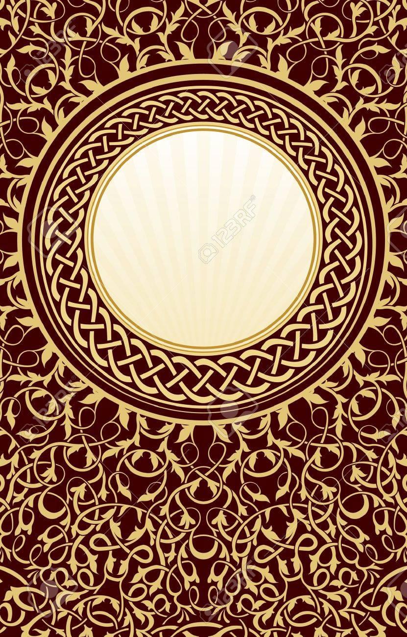 gold vintage circle frame Stock Vector - 10493546