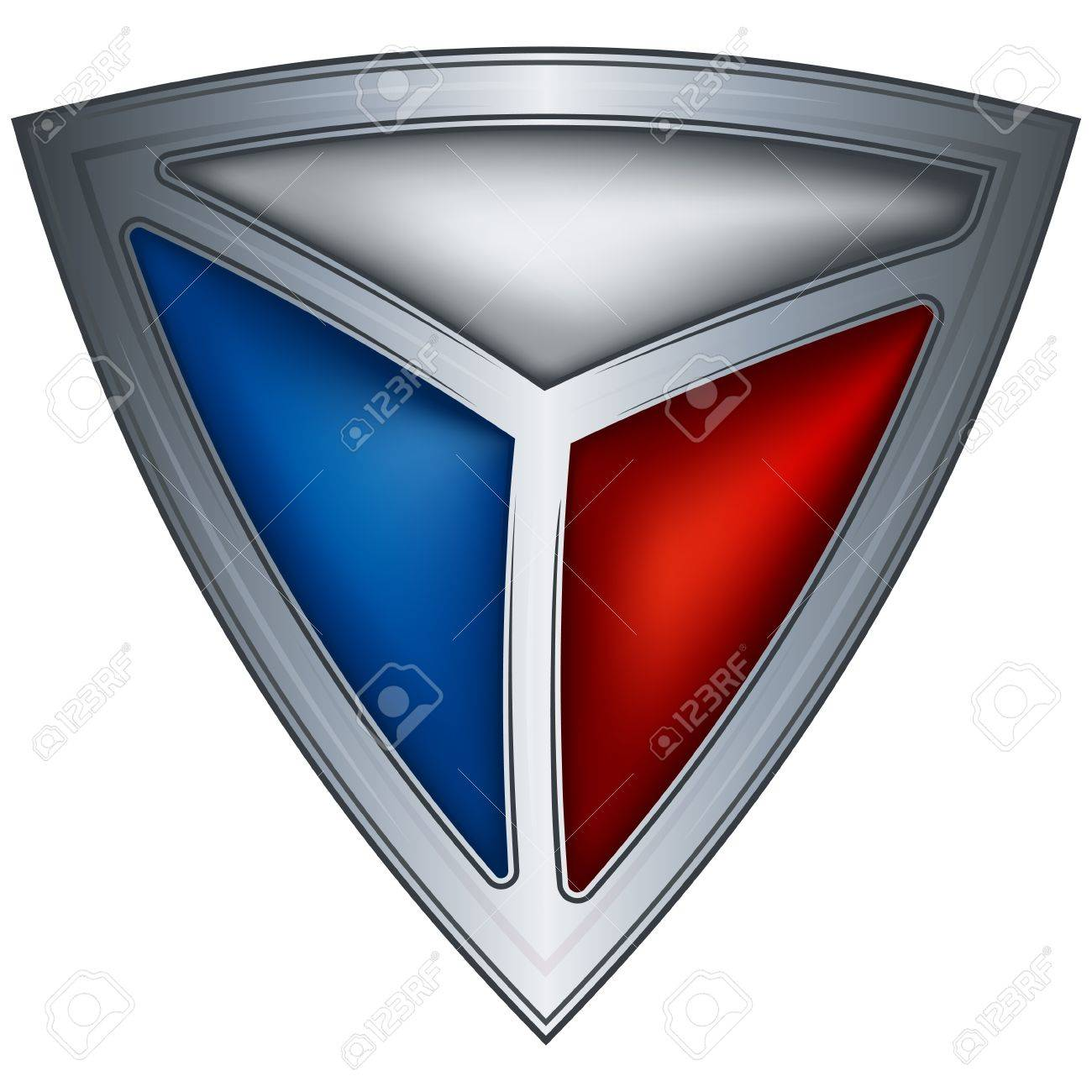 steel shield with flag czech republic Stock Vector - 10689773