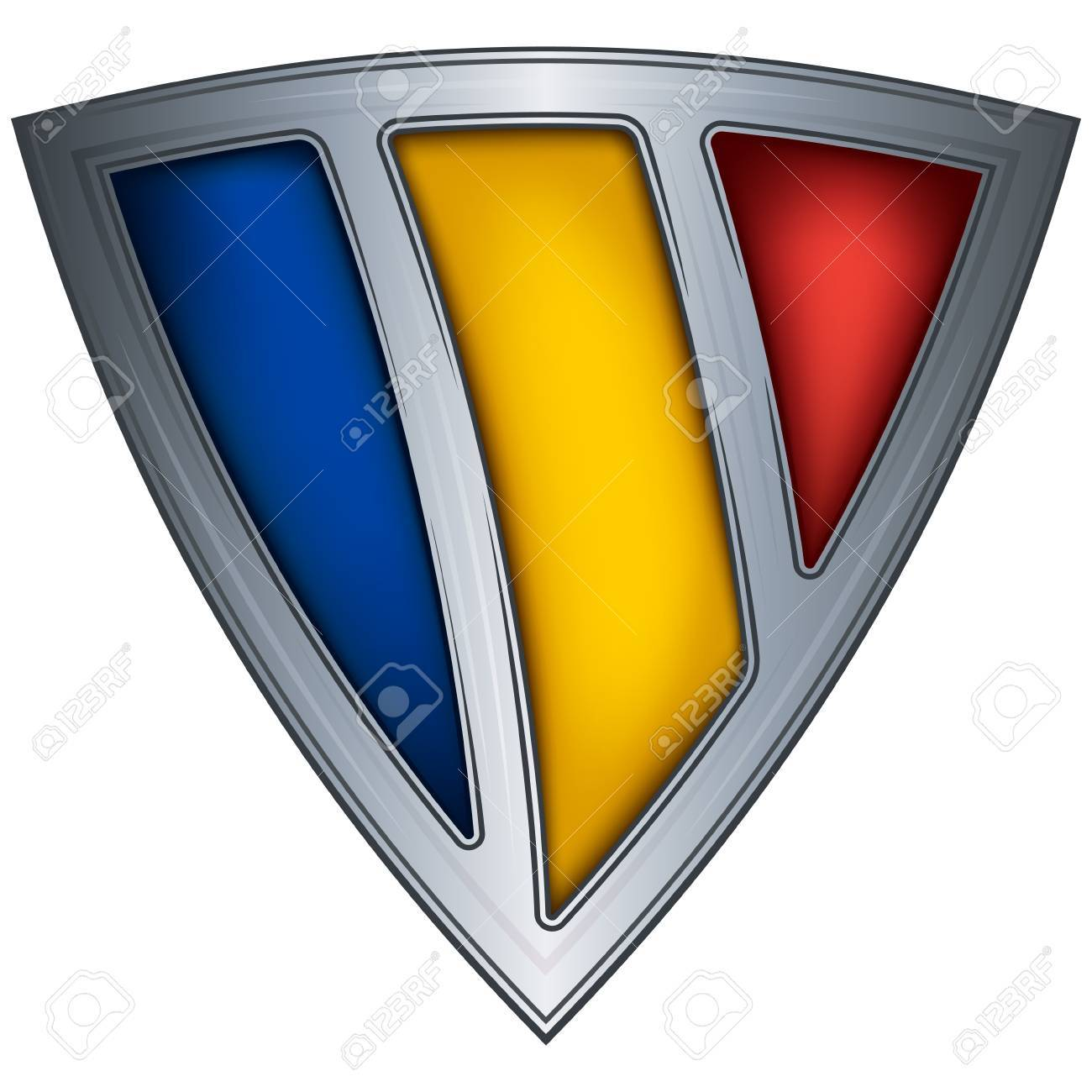 steel shield with flag romania Stock Vector - 10775713