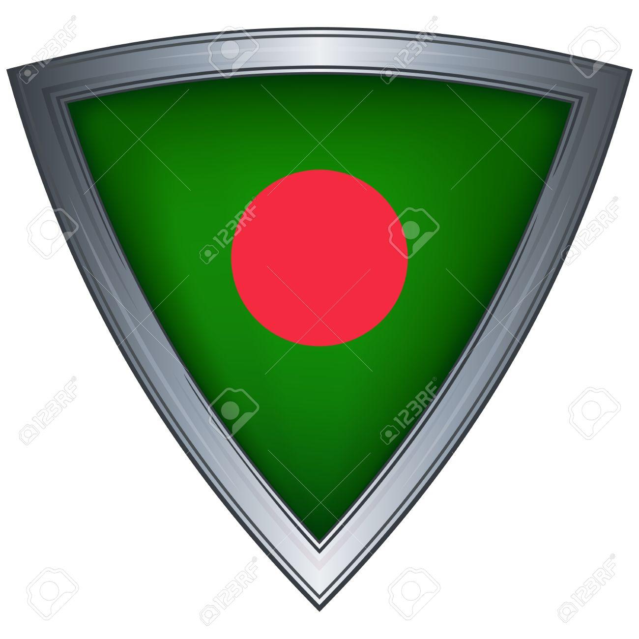 steel shield with flag bangladesh Stock Vector - 11375708