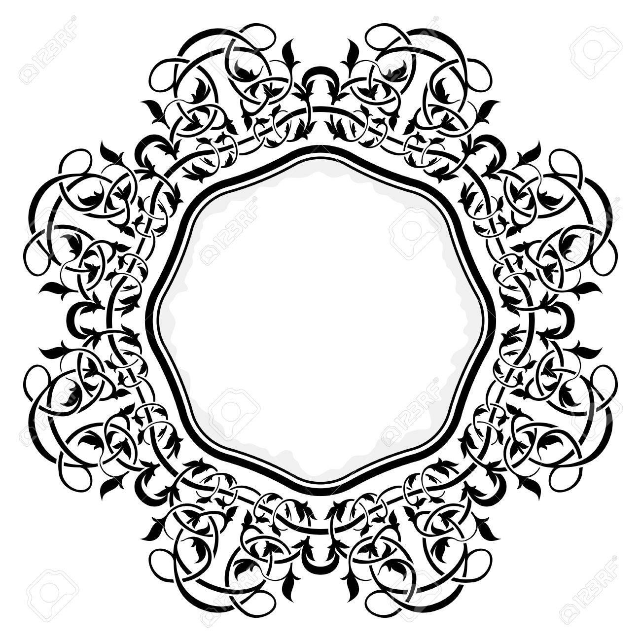 Black frame with ornamental border Stock Vector - 12128362