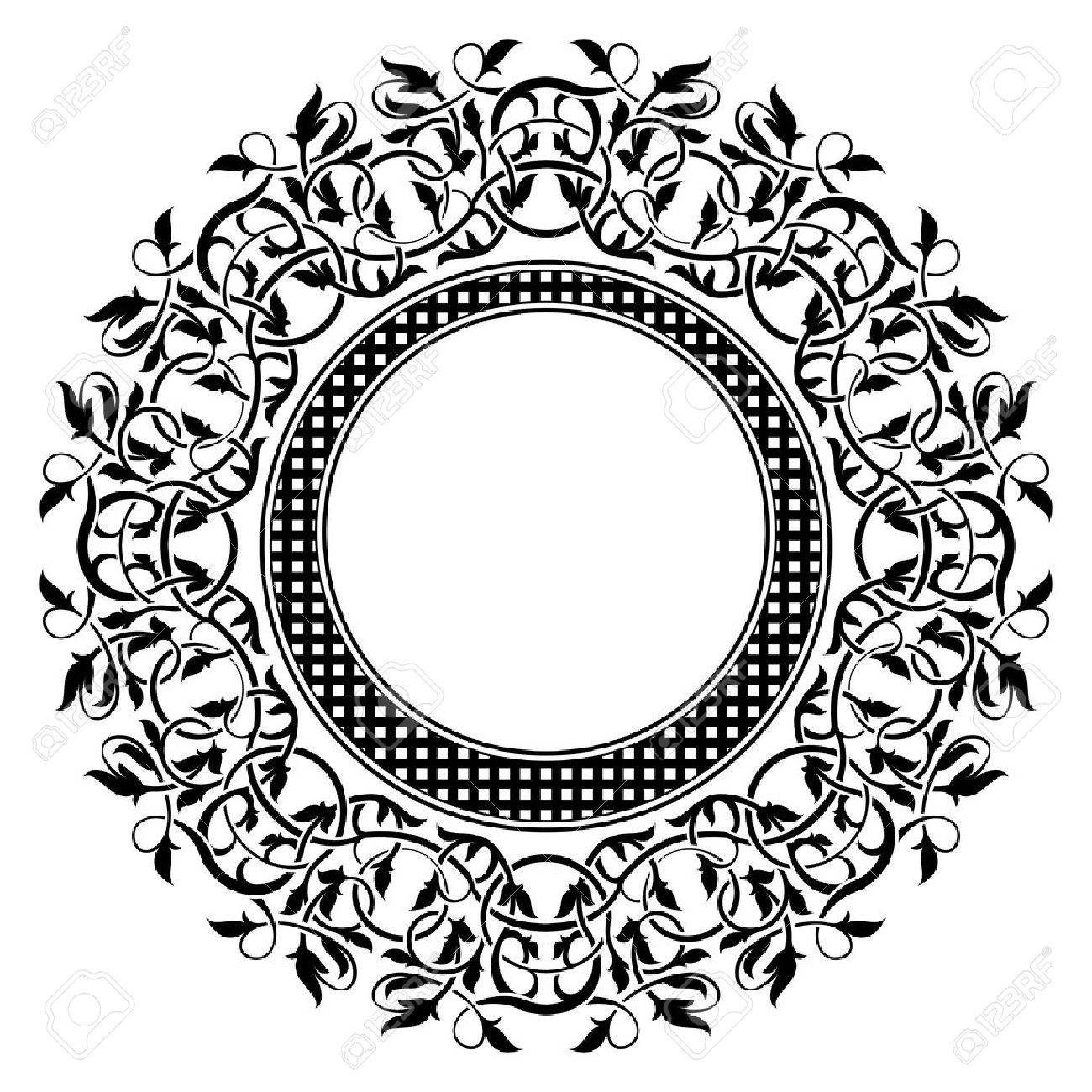 Black frame with ornamental border Stock Vector - 12365001