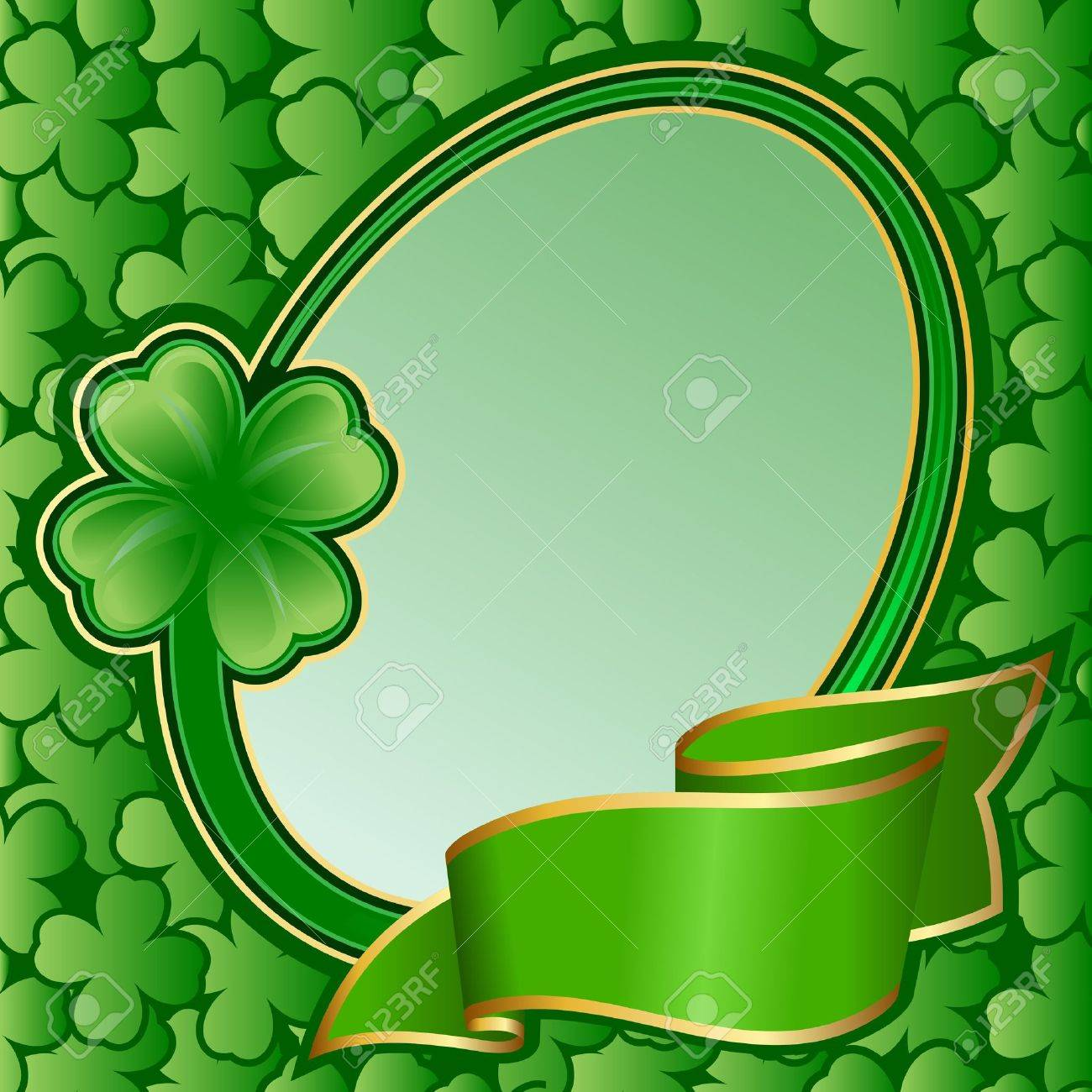 Circle frame with ribbon on St. Patrick Stock Vector - 12365002
